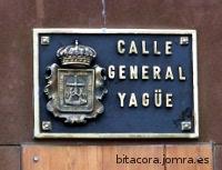 placa de la calle General Yagüe, en Oviedo