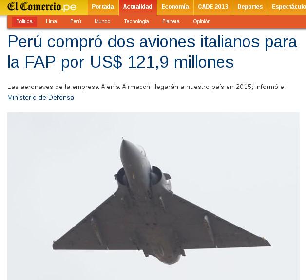 Captura de pantalla de El Comercio