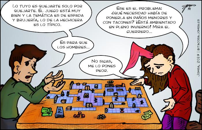 Chiste sobre juegos de mesa y sexismo