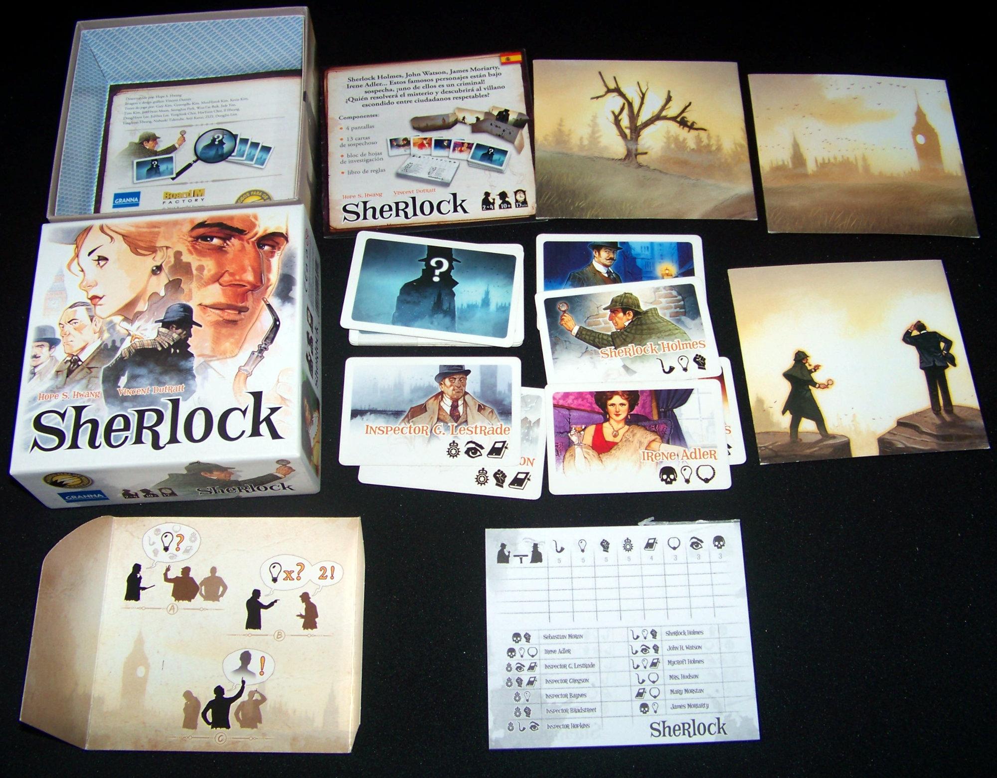 Contenido del juego Sherlock 13