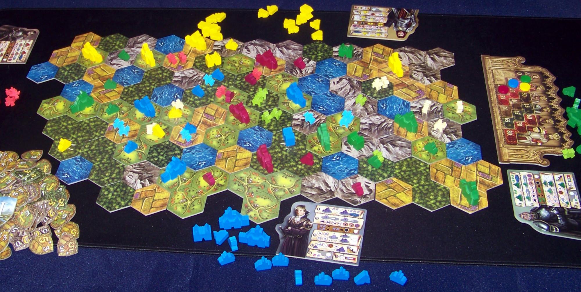 Despliegue del juego de mesa Barony