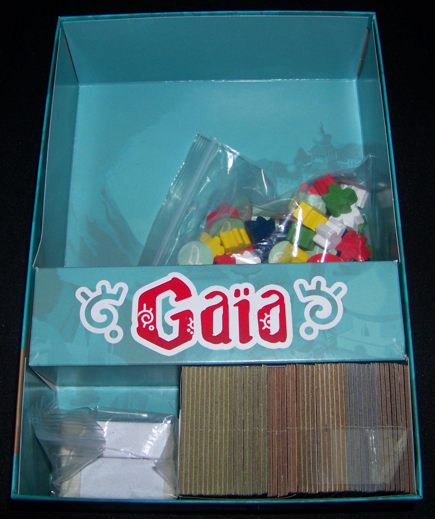 Vista del interior de la caja de Gaïa.