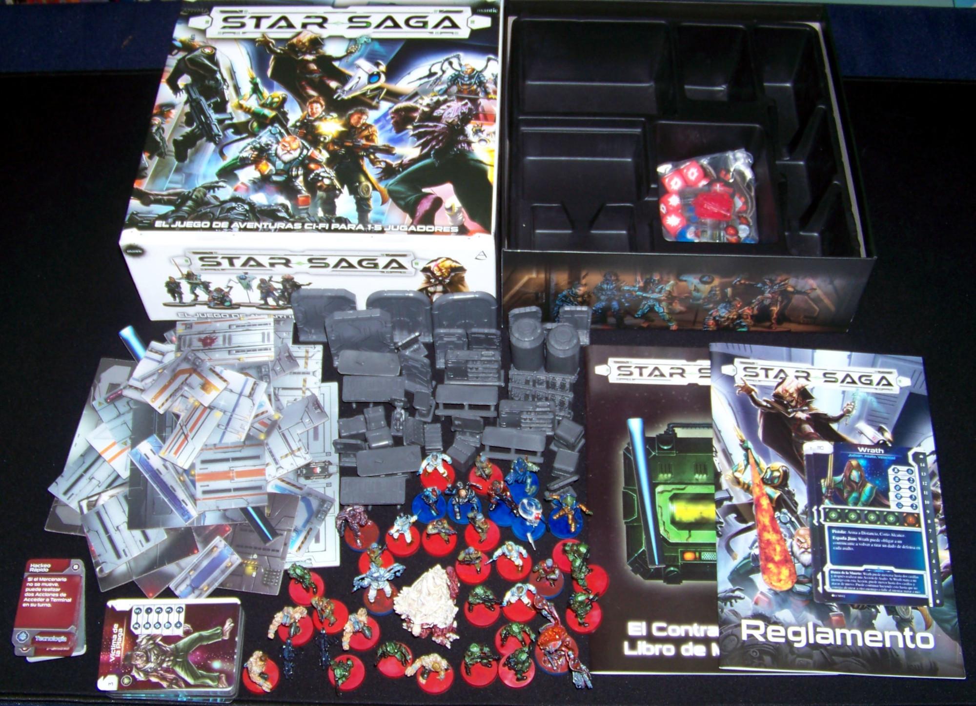 Star Saga - componentes