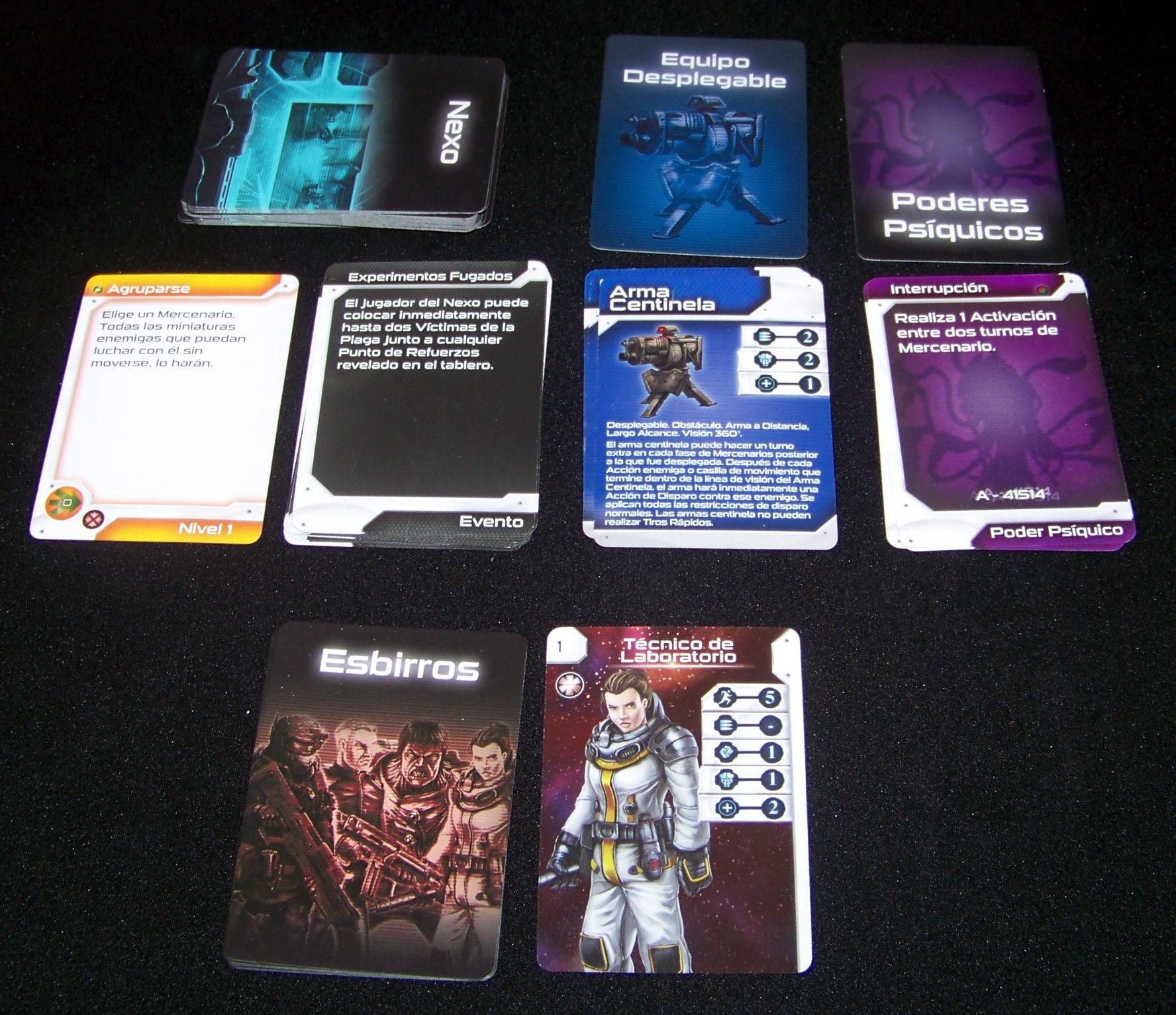 Star Saga - componentes: cartas medianas.