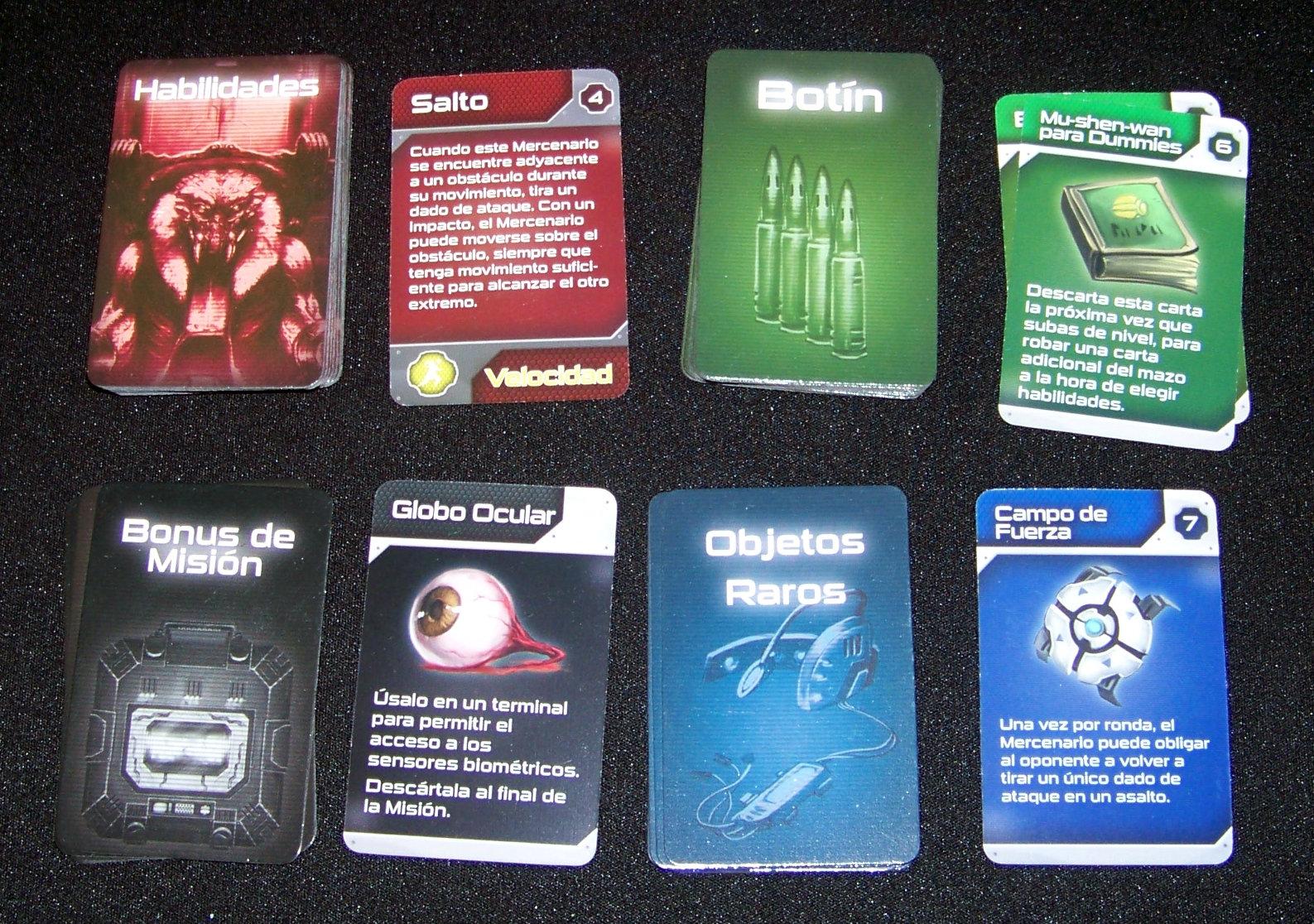 Star Saga - componentes: cartas pequeñas