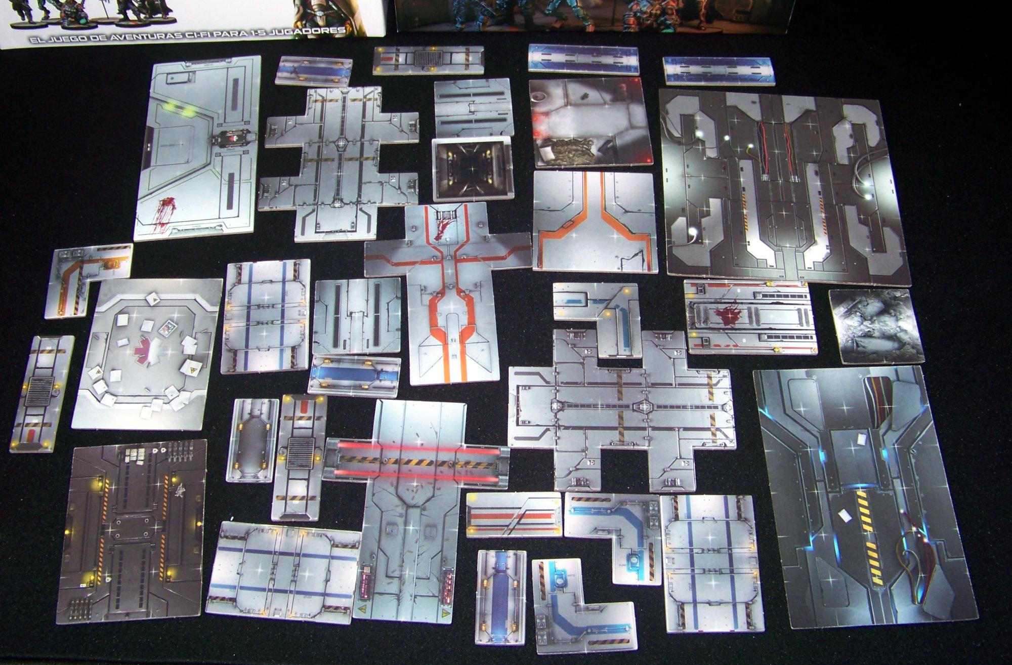 Star Saga - componentes: losetas.