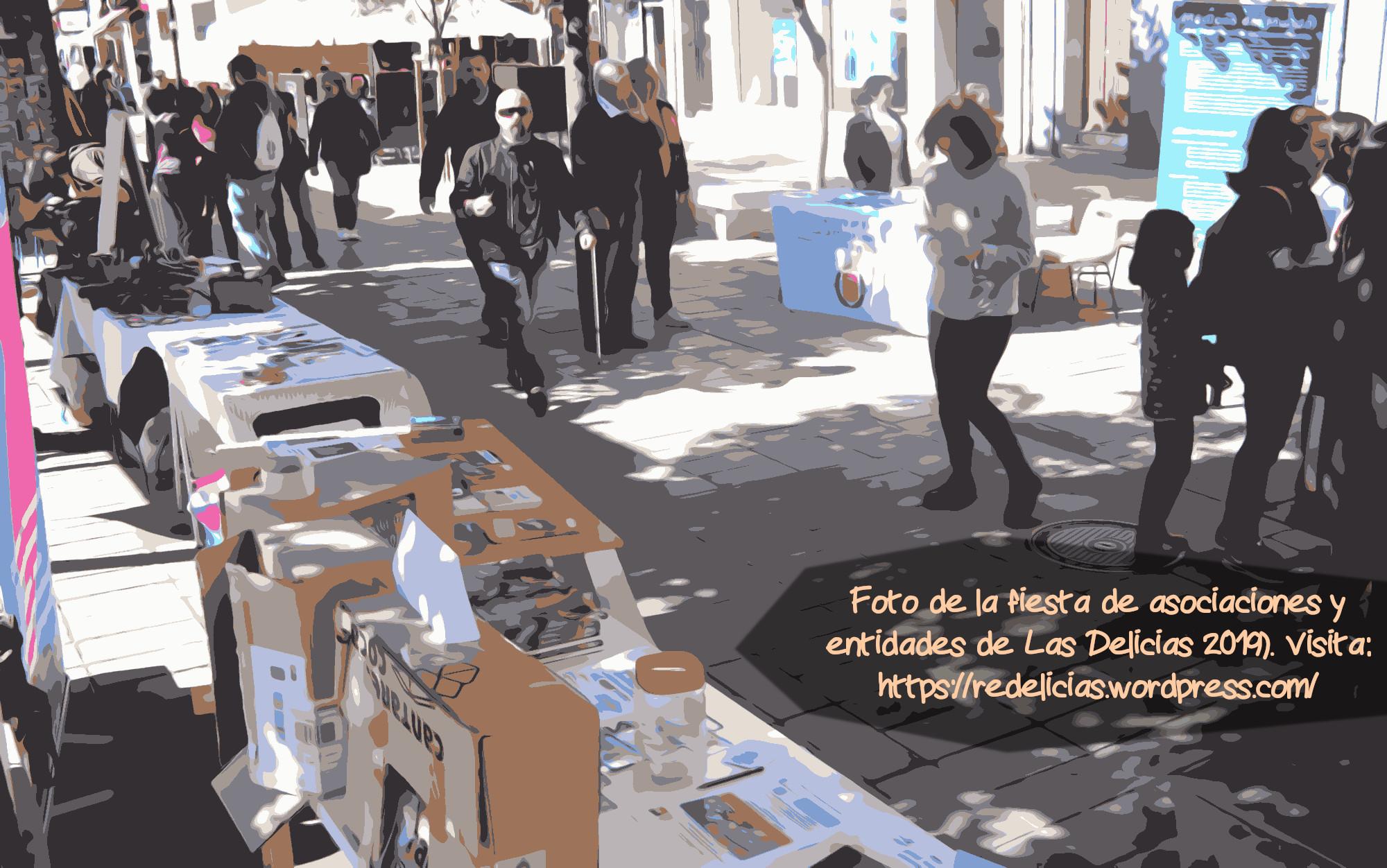 Fotomanipulación de la fiesta del asociacionismo en Delicias (Valladolid) de 2019
