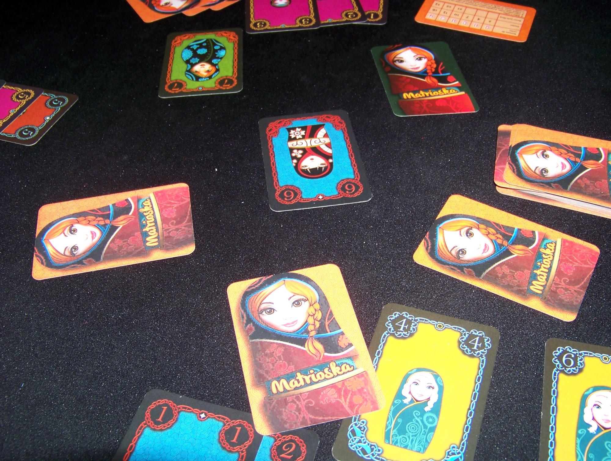 Juego de mesa Matrioska - detalle en la partida.