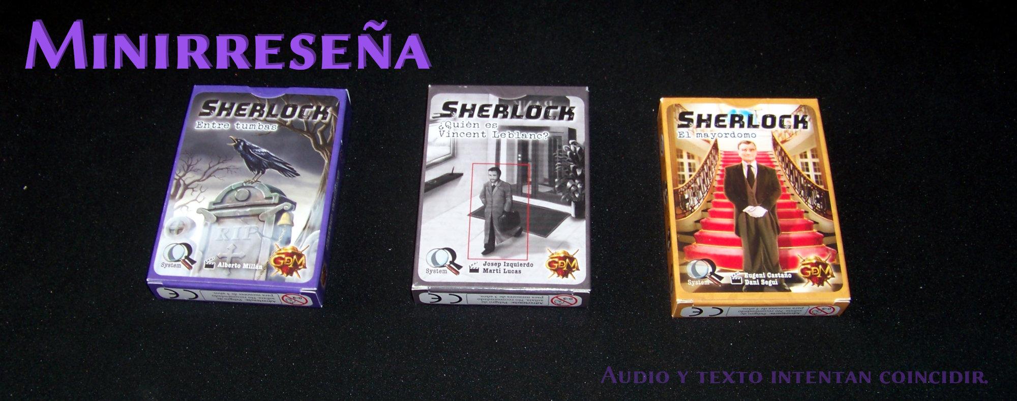 Sherlock / Q system - carátulas de los juegos (de tres cajas).