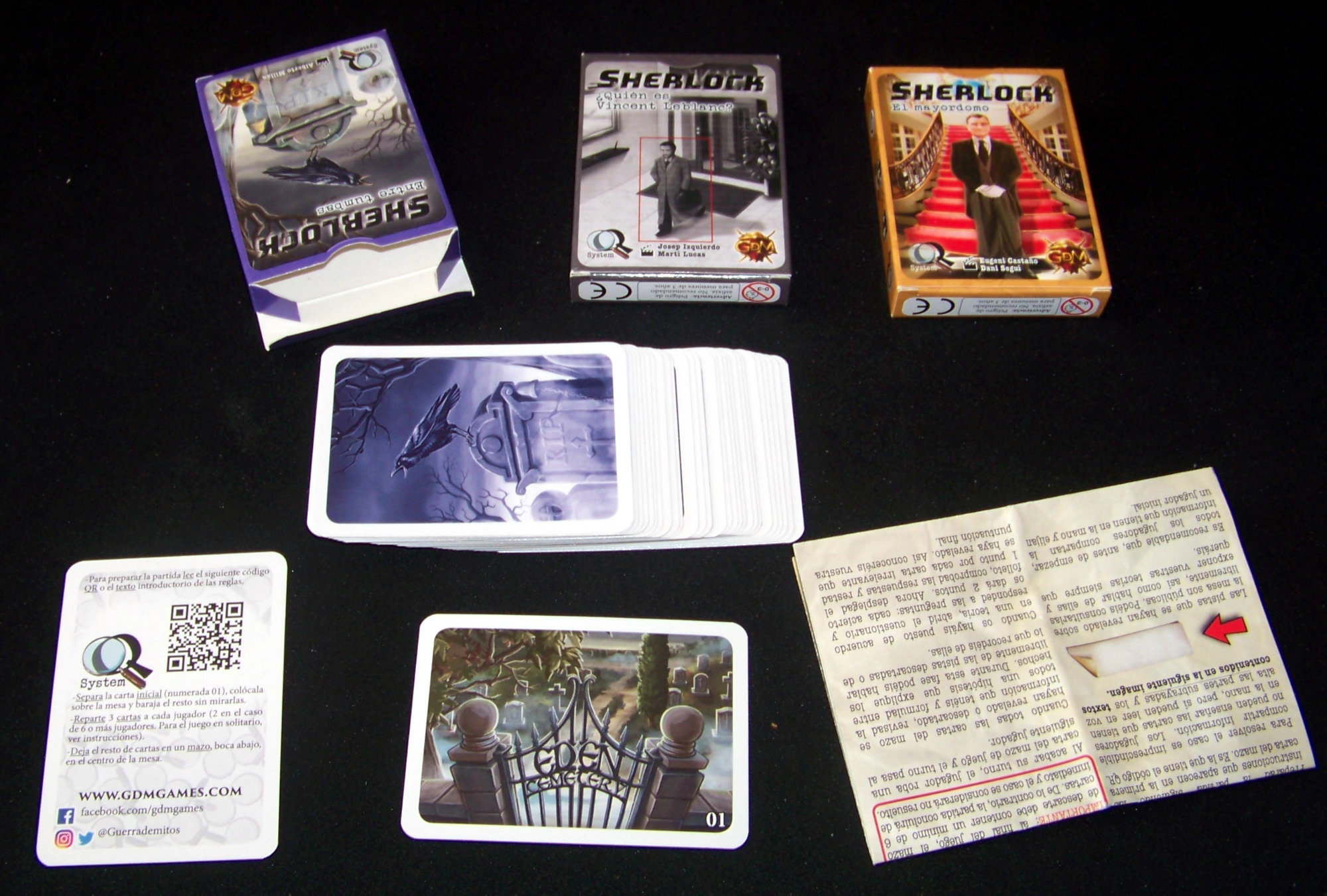 Sherlock / Q system - contenido del juego de mesa