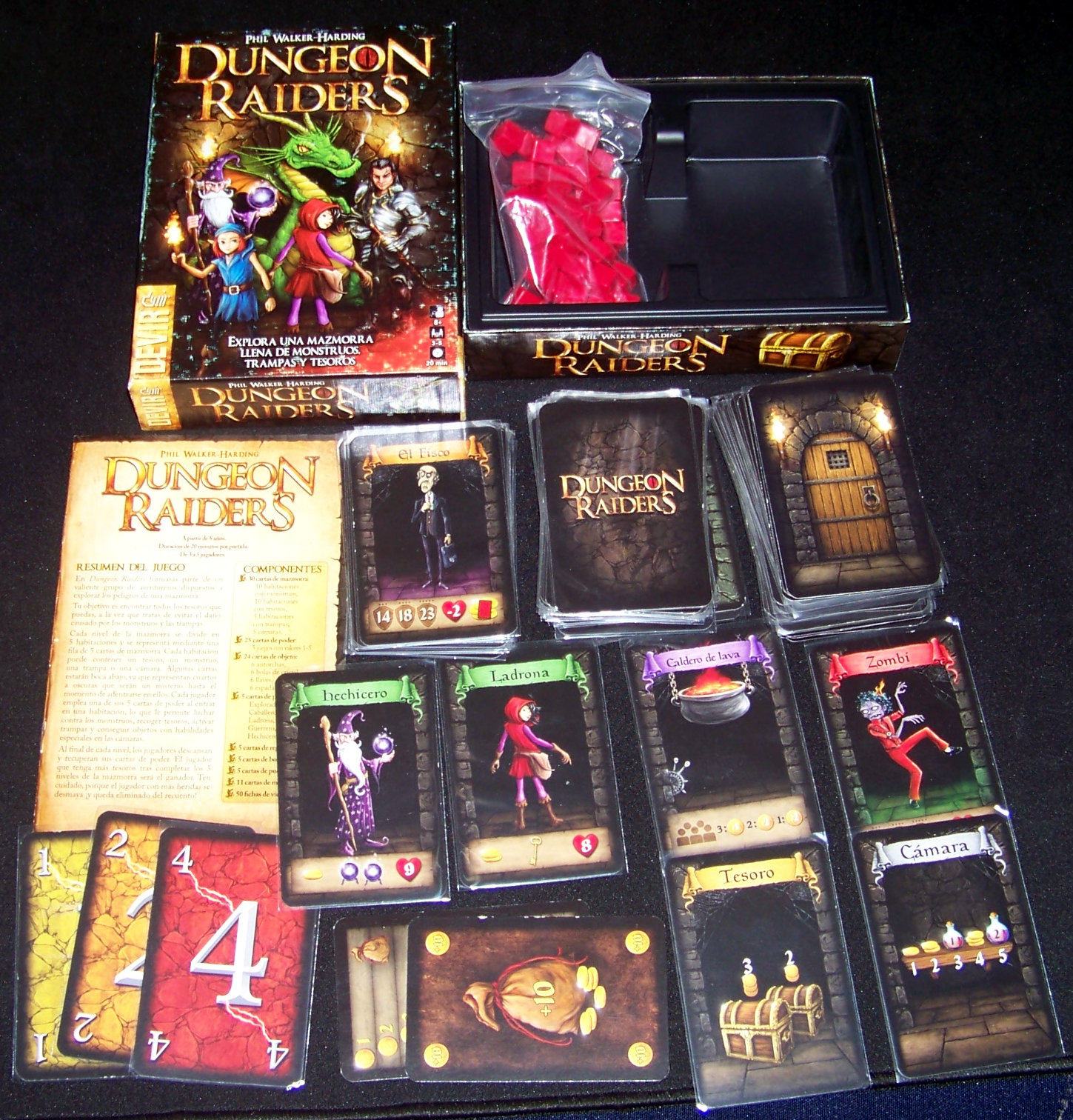 Juego de mesa Dungeon Raiders - contenido