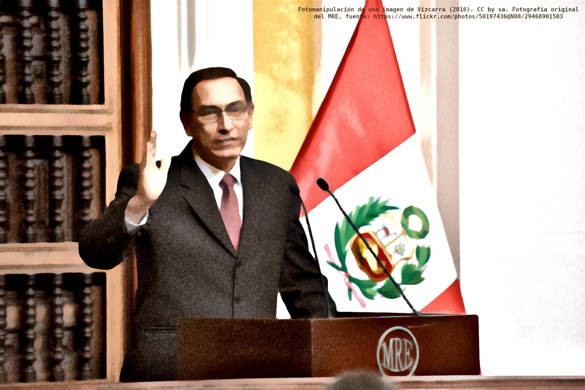 Vizcarra presidente (fotomanipulación)
