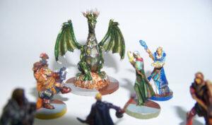 Juego de mesa Drakon - grupo de miniaturas