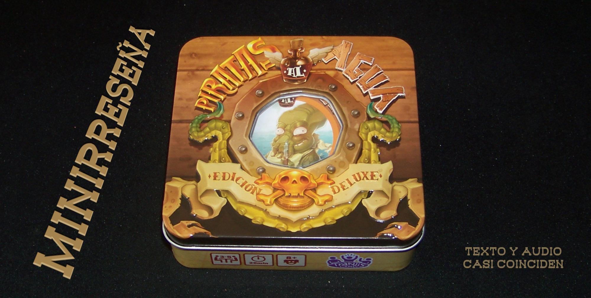 Juego de mesa Piratas al agua - Carátula