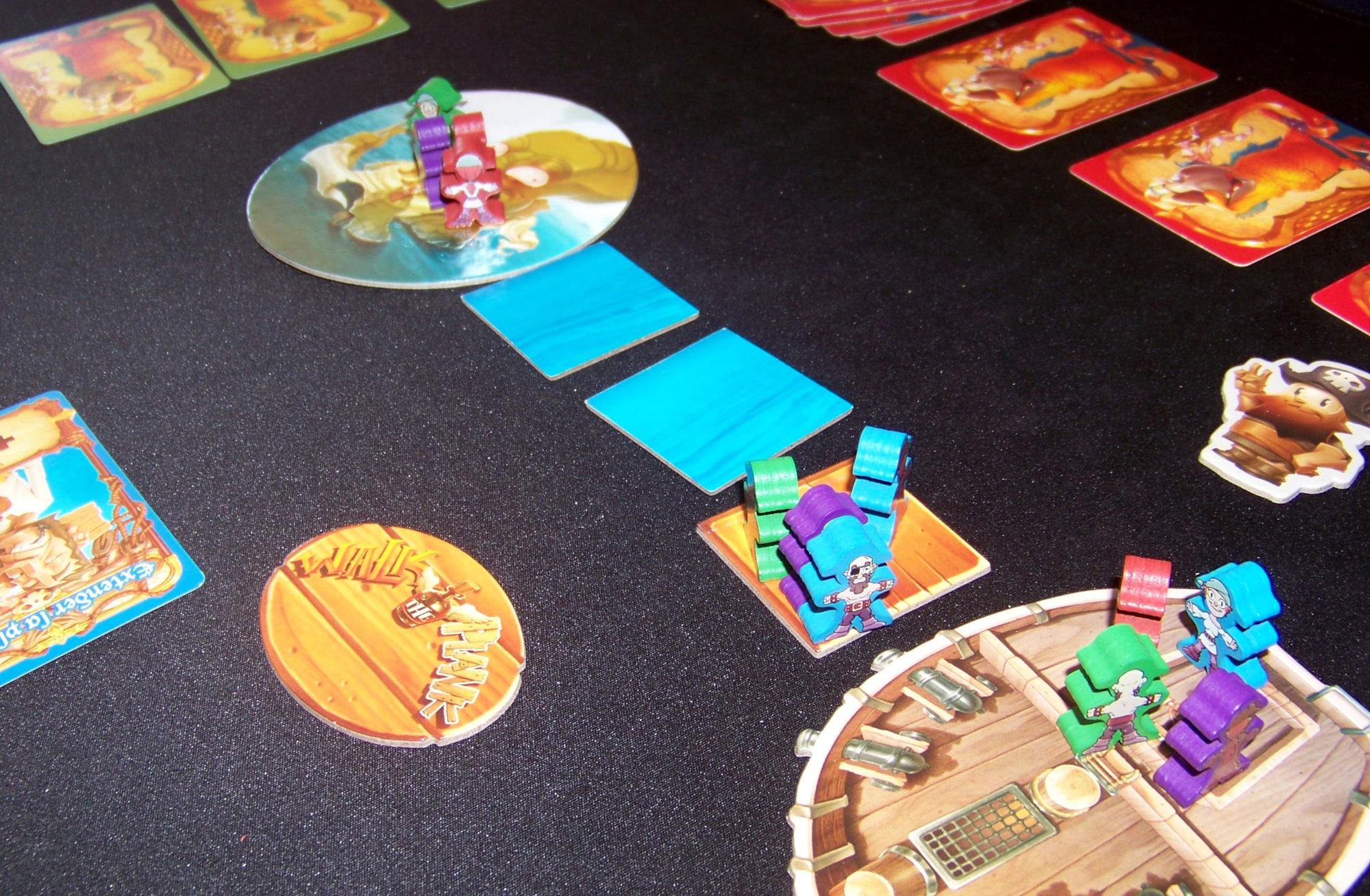 Juego de mesa Piratas al agua - Detalle de la partida