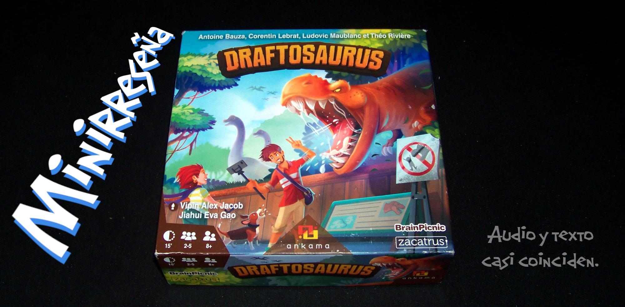 Juego de mesa Draftosaurus - Título y carátula