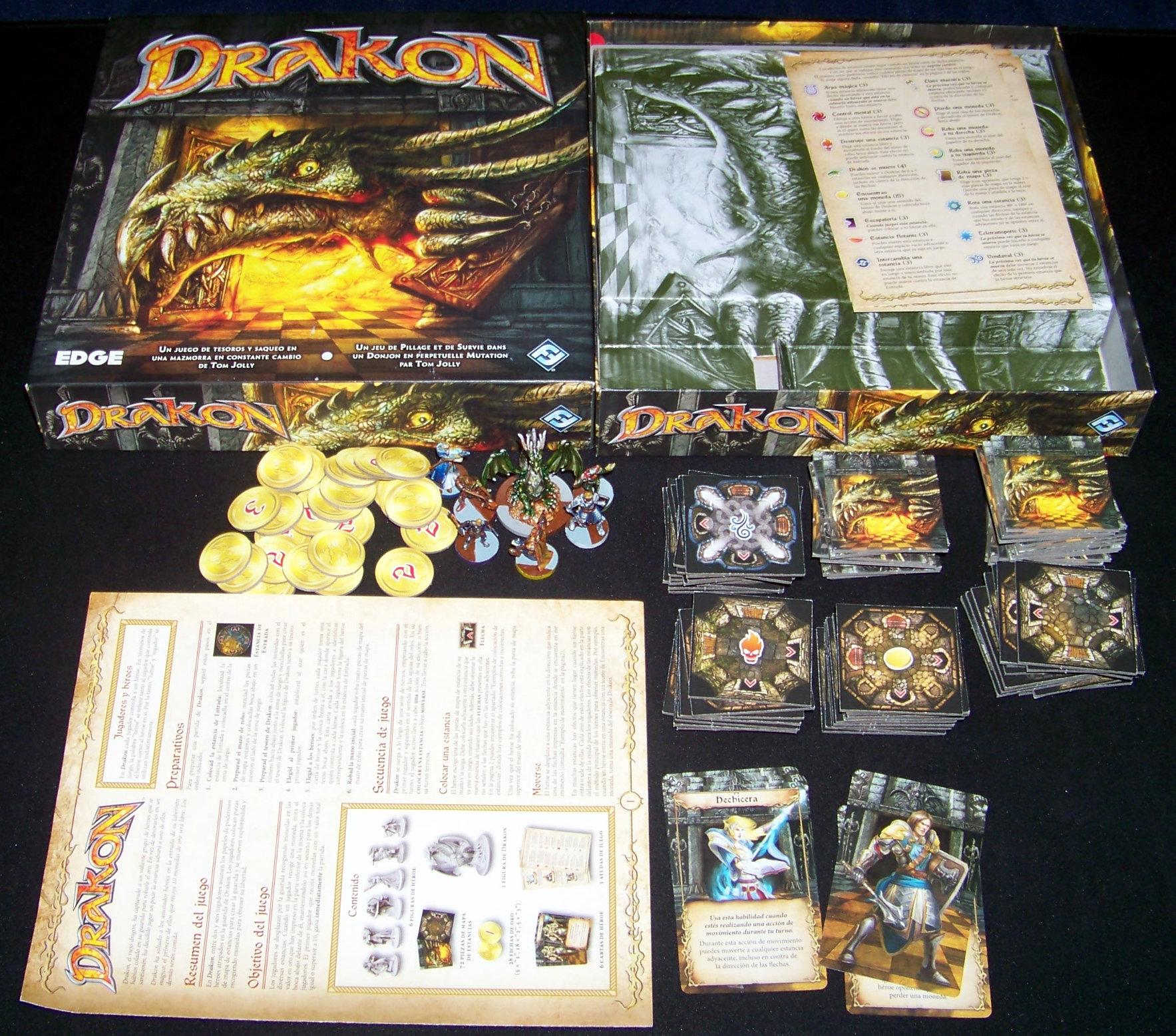 Juego de mesa Drakon - Contenido