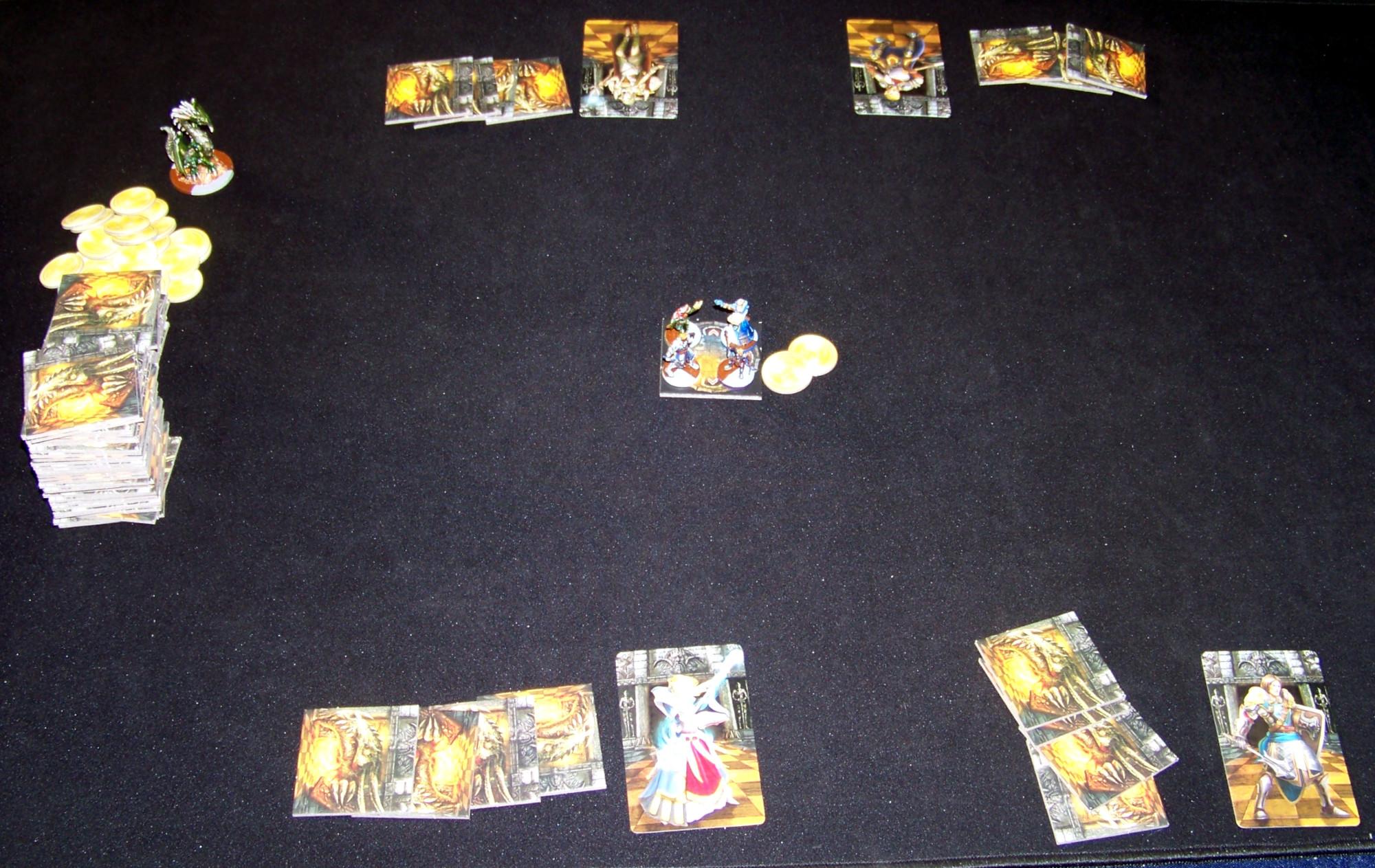 Juego de mesa Drakon - despliegue