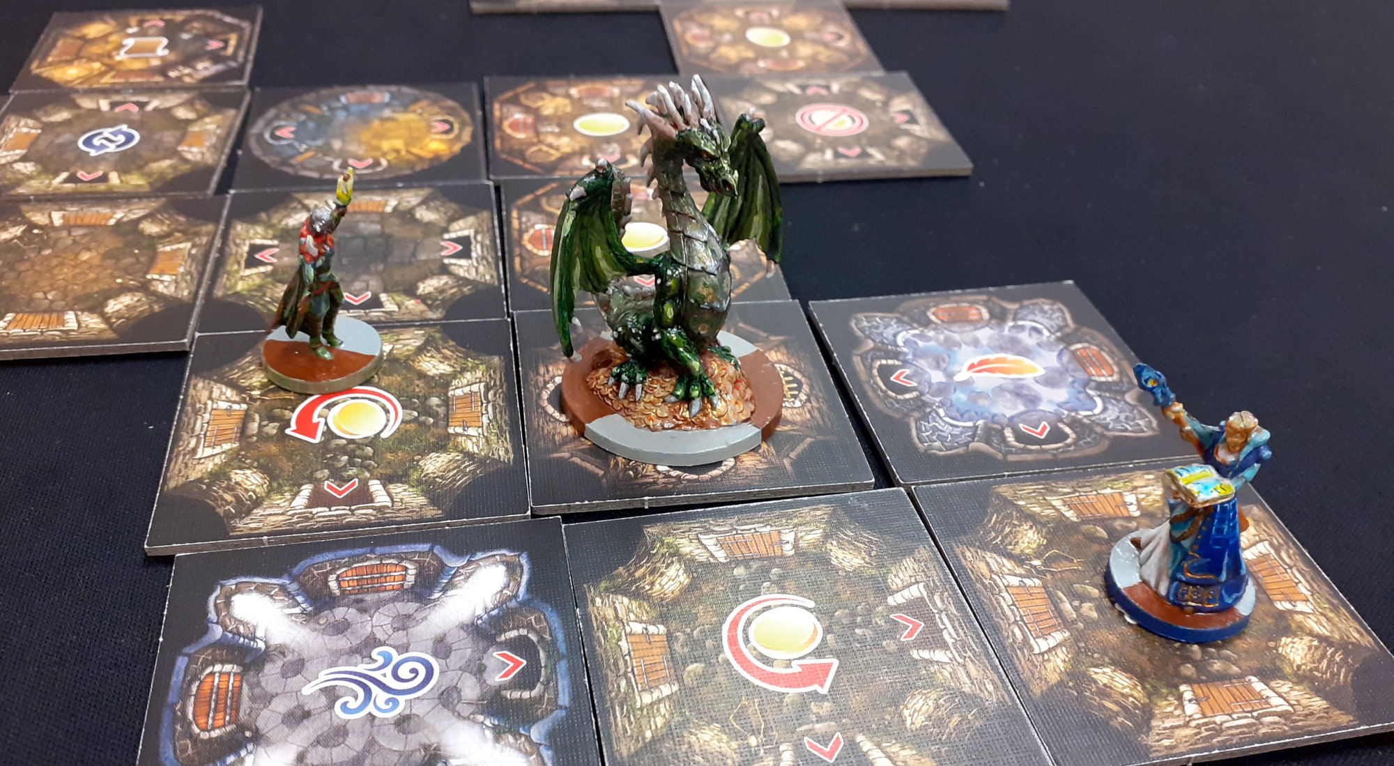 Juego de mesa Drakon - detalle de partida