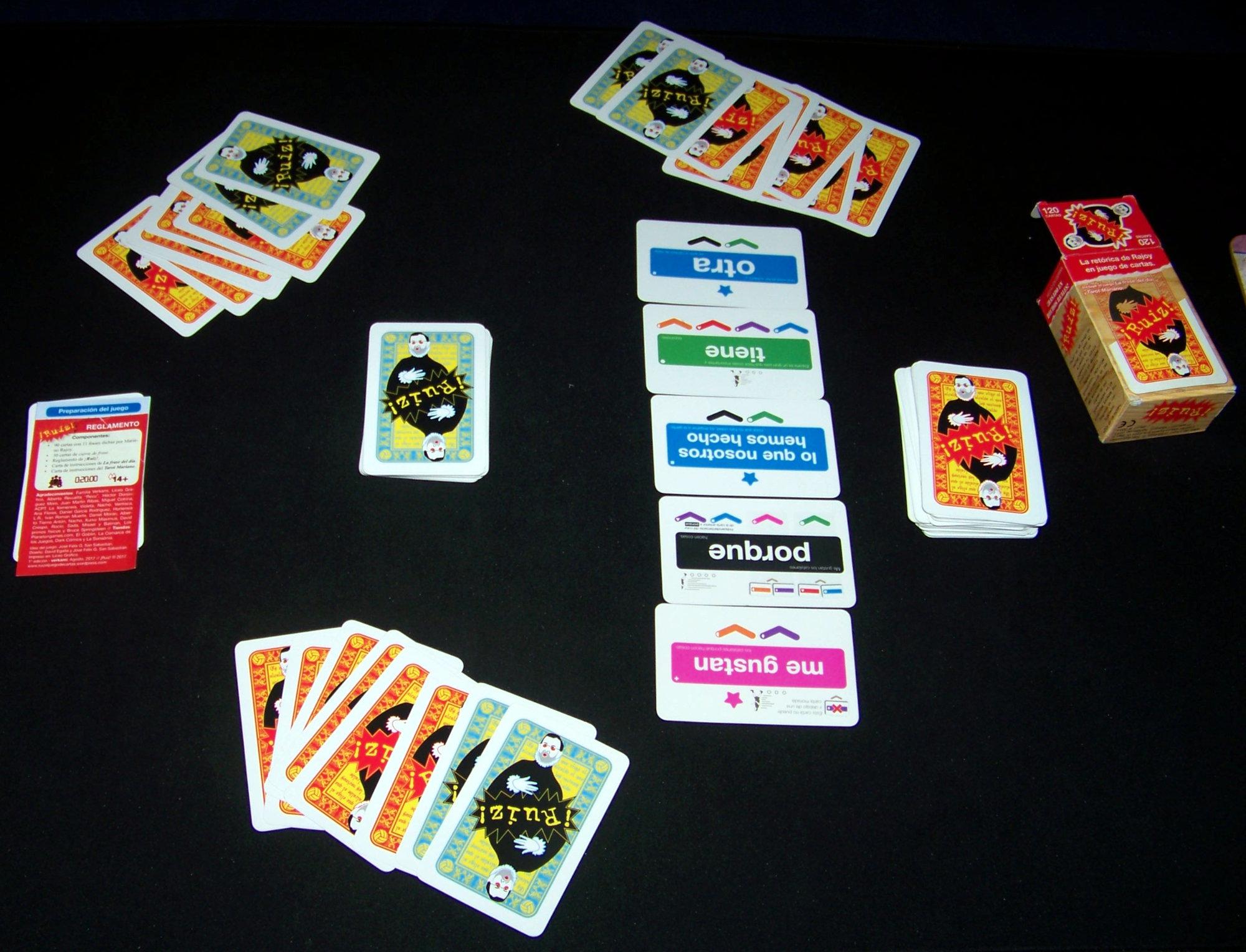 Juego de mesa ¡Ruiz! - durante la partida