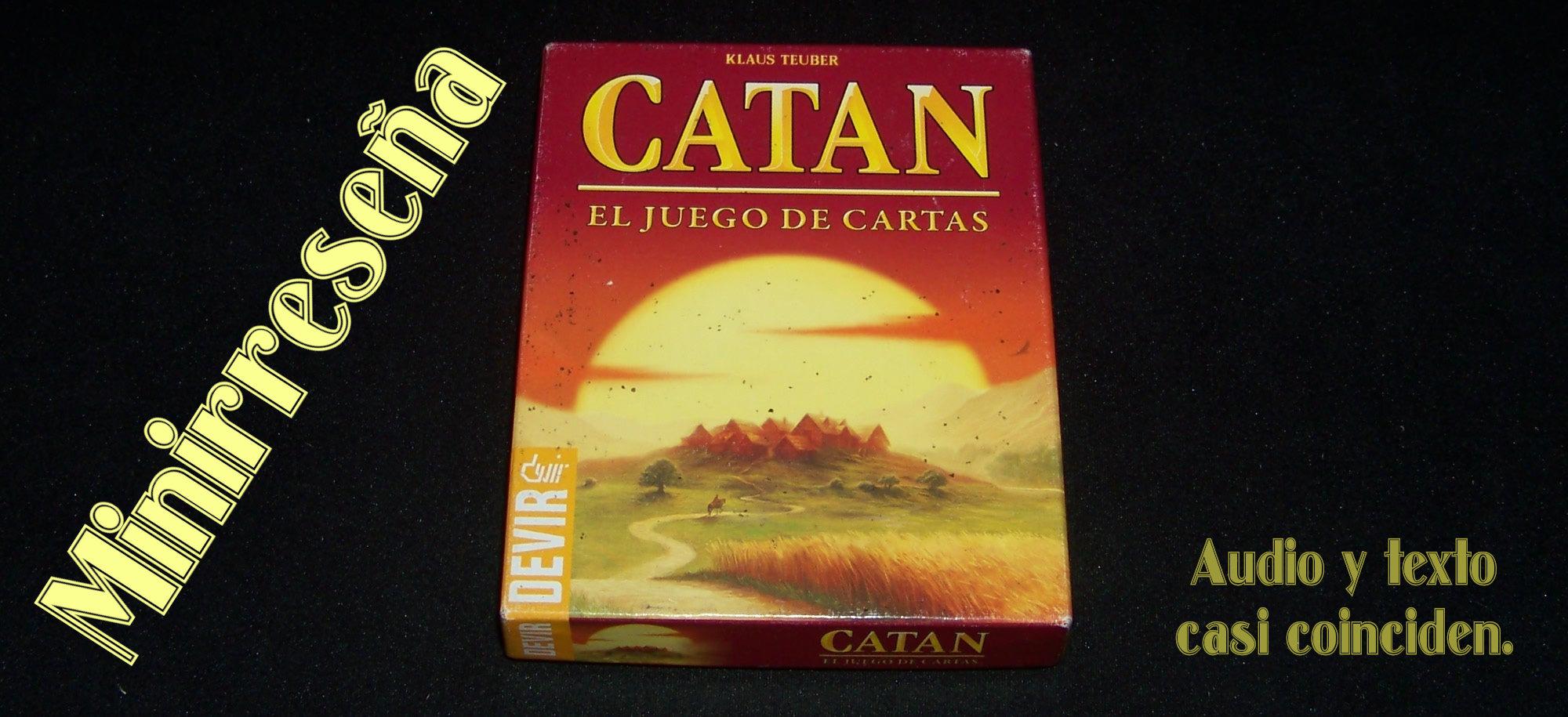Juego de mesa Catán, el juego de cartas - carátula