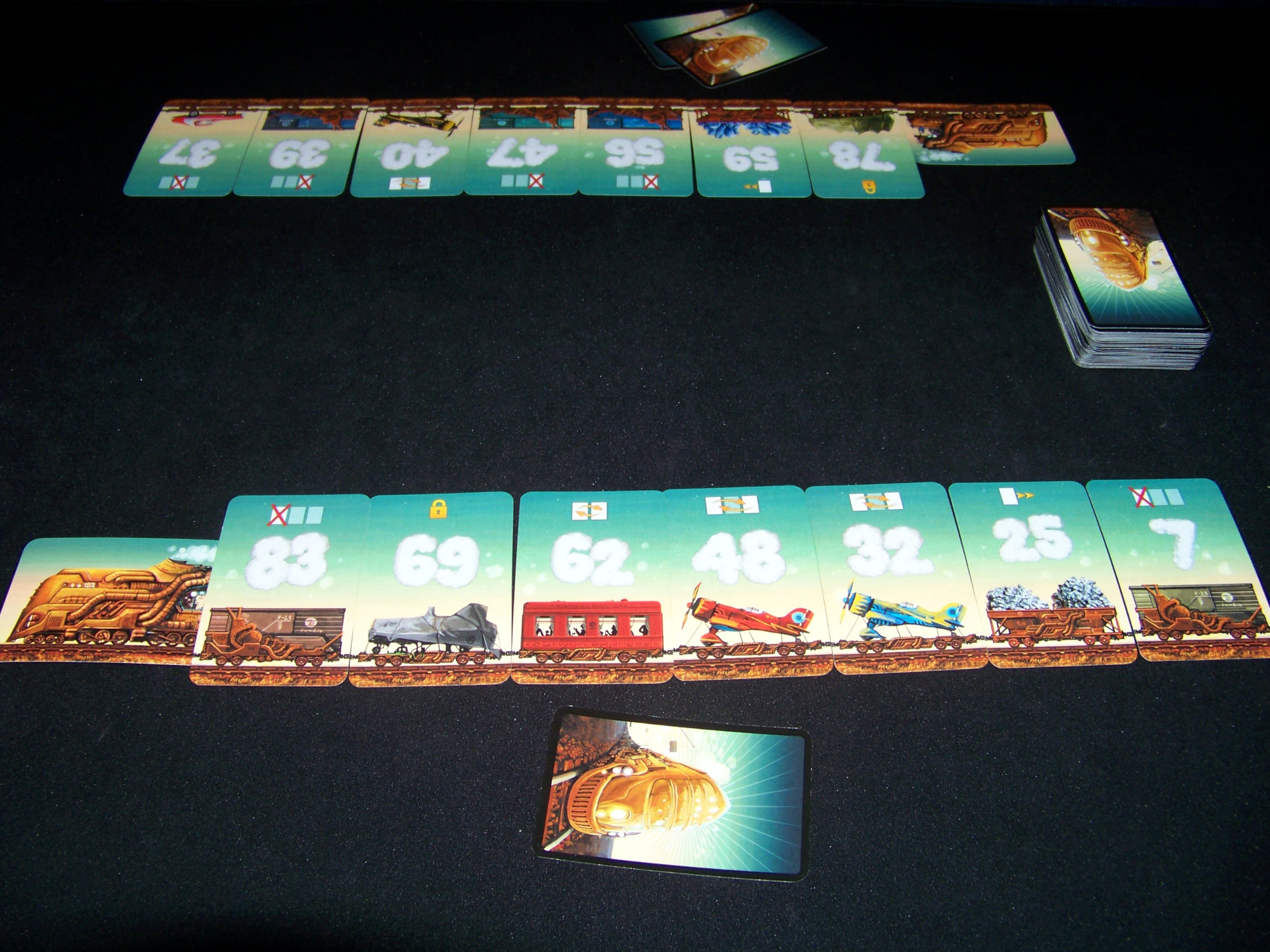 Juego de mesa Game of Trains - despliegue