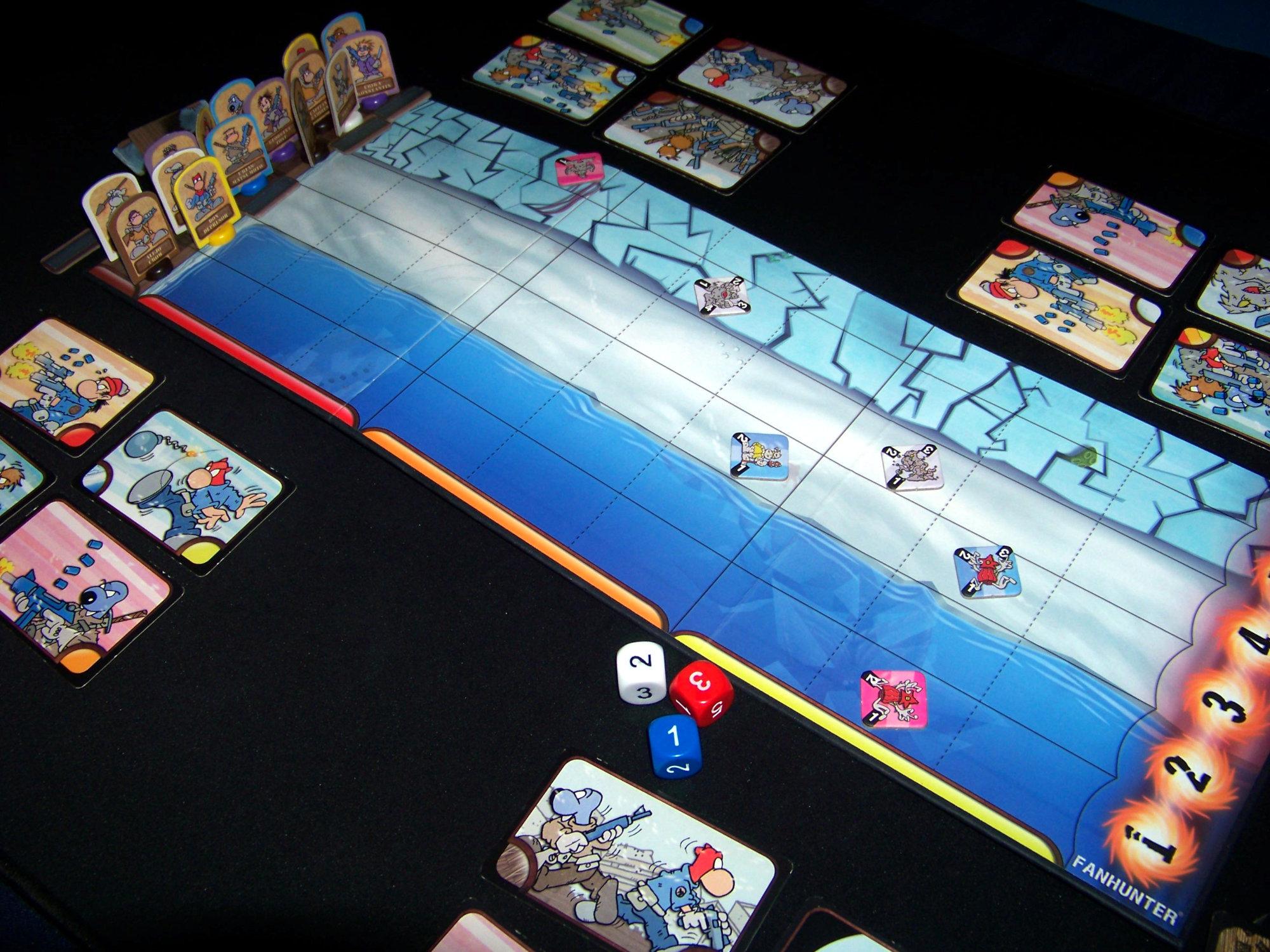 Juego de mesa Fanhunter Las Montañas de la Locura - durante la partida