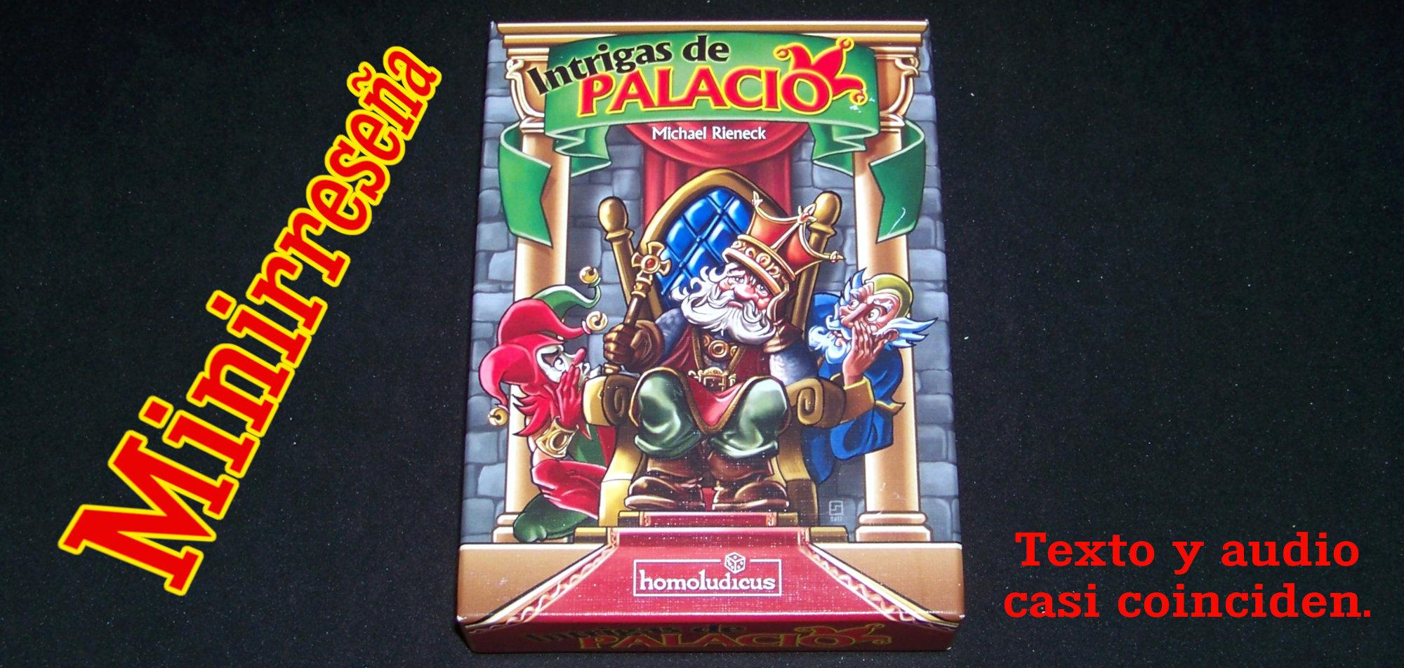 Juego de mesa Intrigas de Palacio - carátula