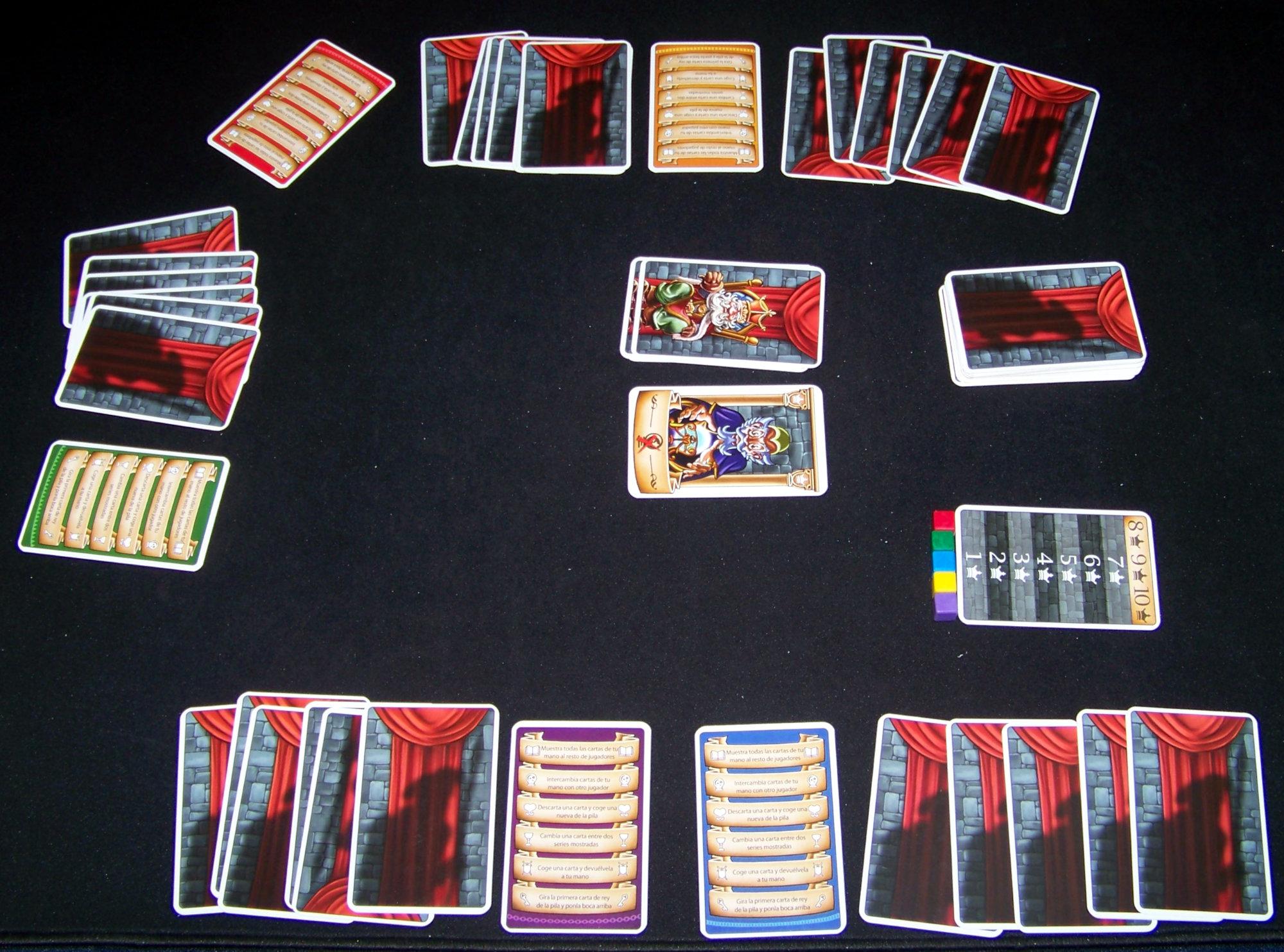 Juego de mesa Intrigas de Palacio - despliegue