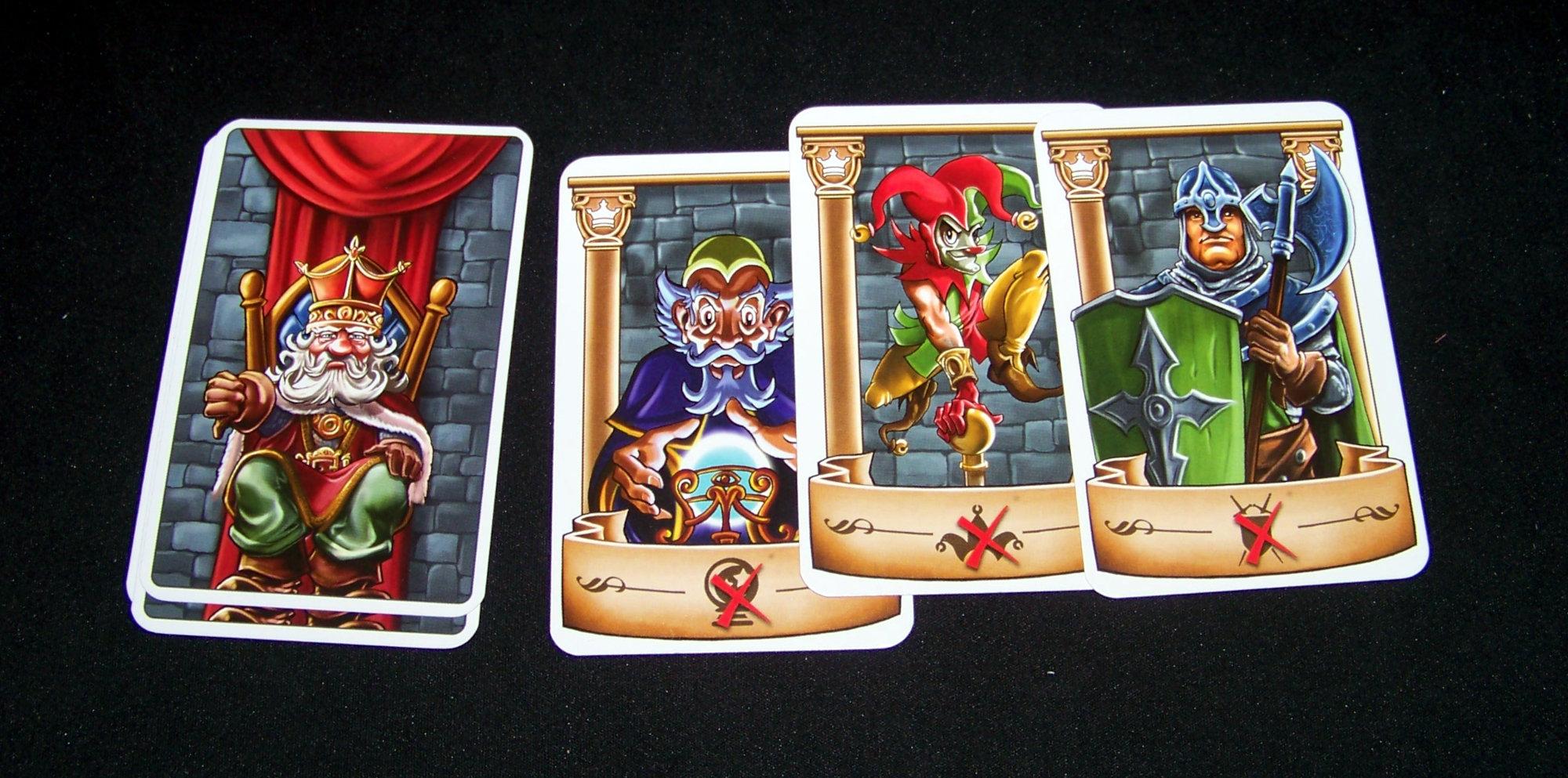 Juego de mesa Intrigas de Palacio - cartas de rey