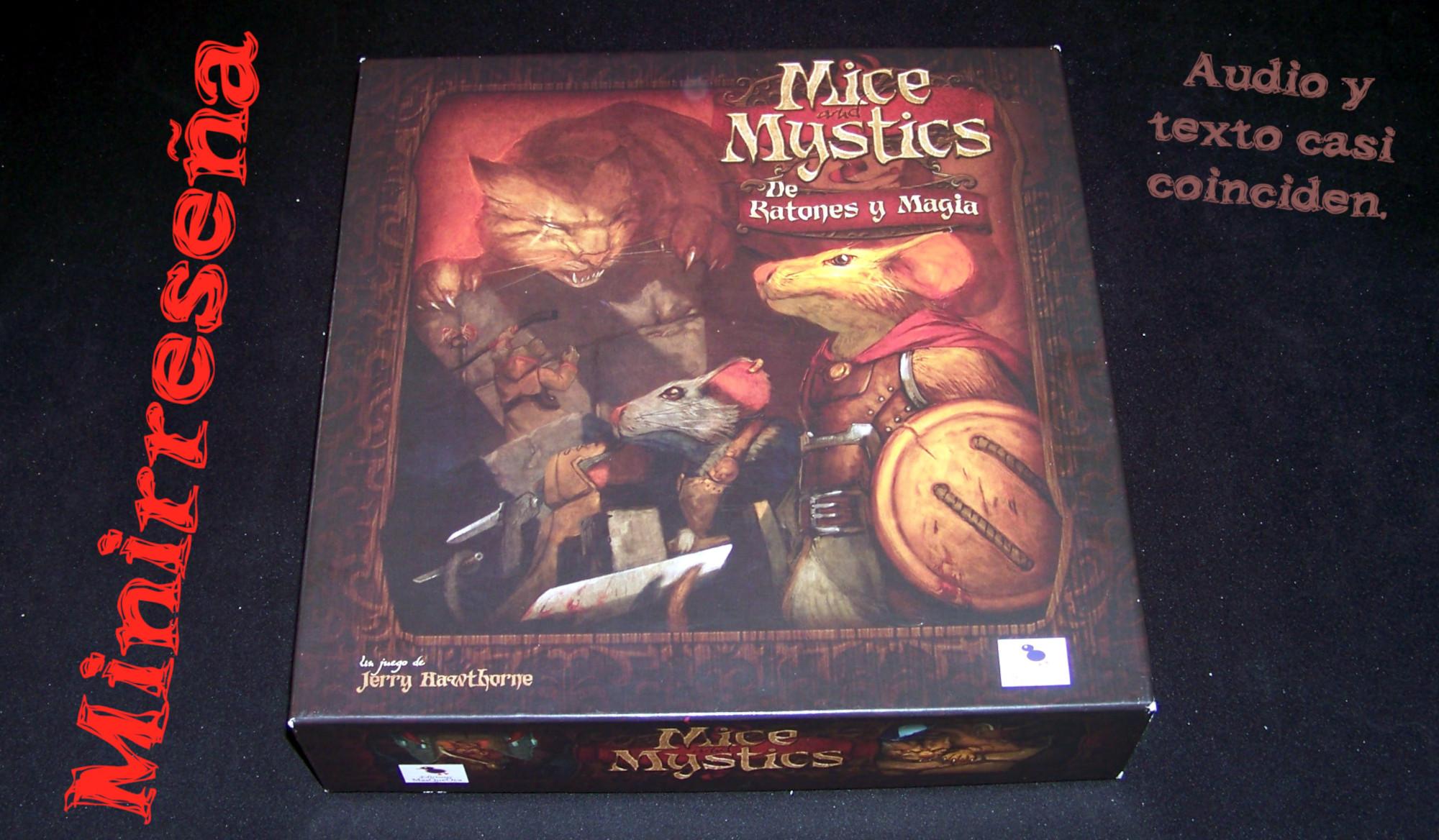 Juego de mesa De Ratones y Magia - Carátula