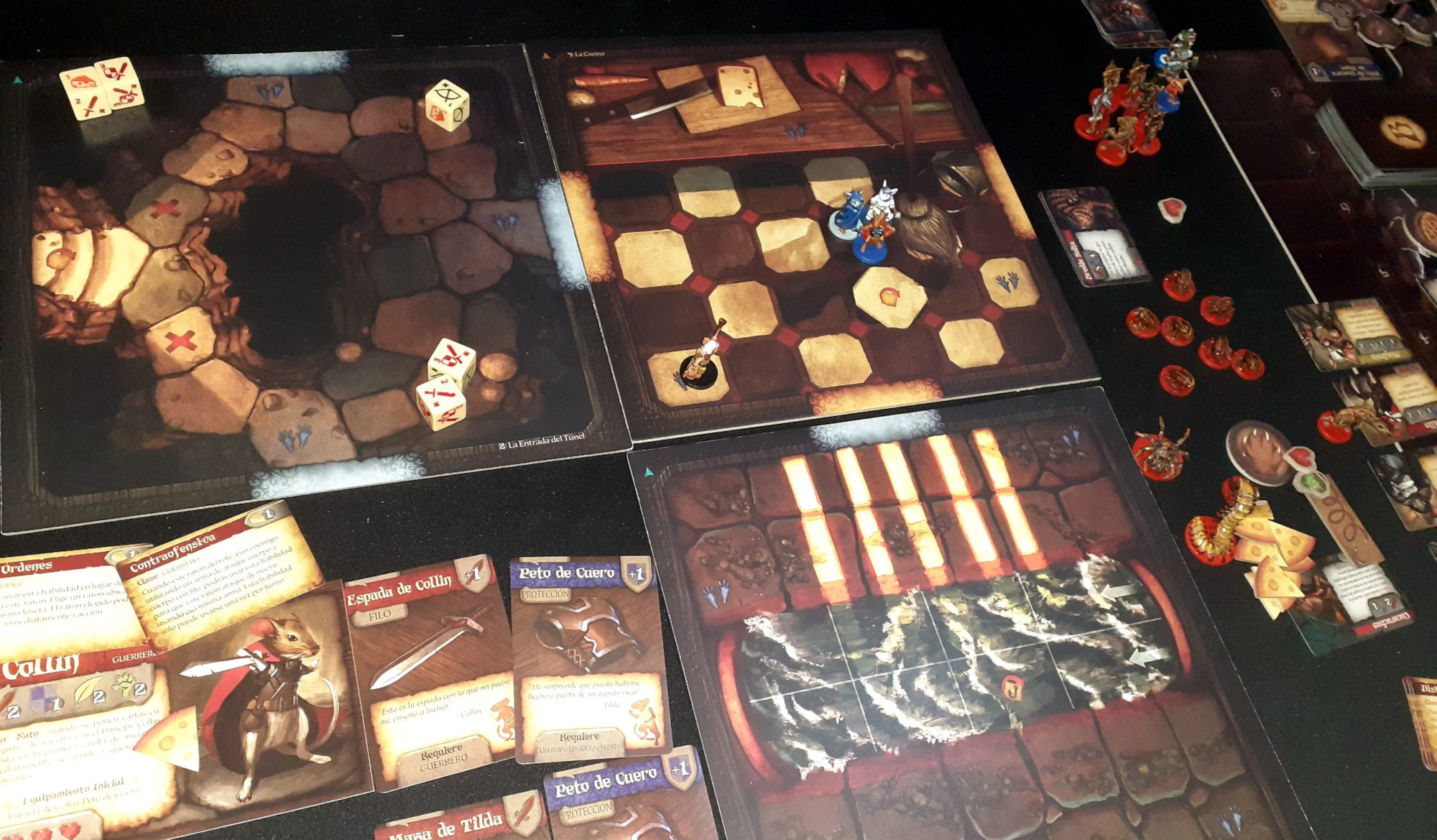 Juego de mesa De Ratones y Magia - partida en curso