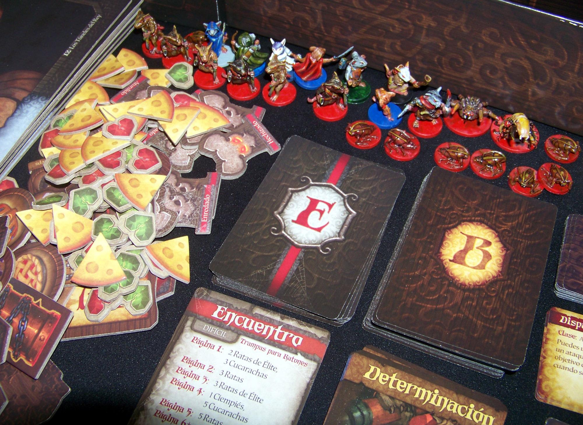 Juego de mesa De Ratones y Magia - detalle de contenido