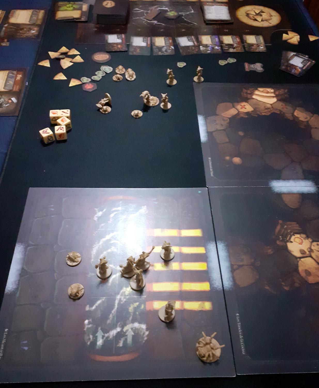 Juego de mesa De Ratones y Magia - detalle de partida (antes de pintarlo)