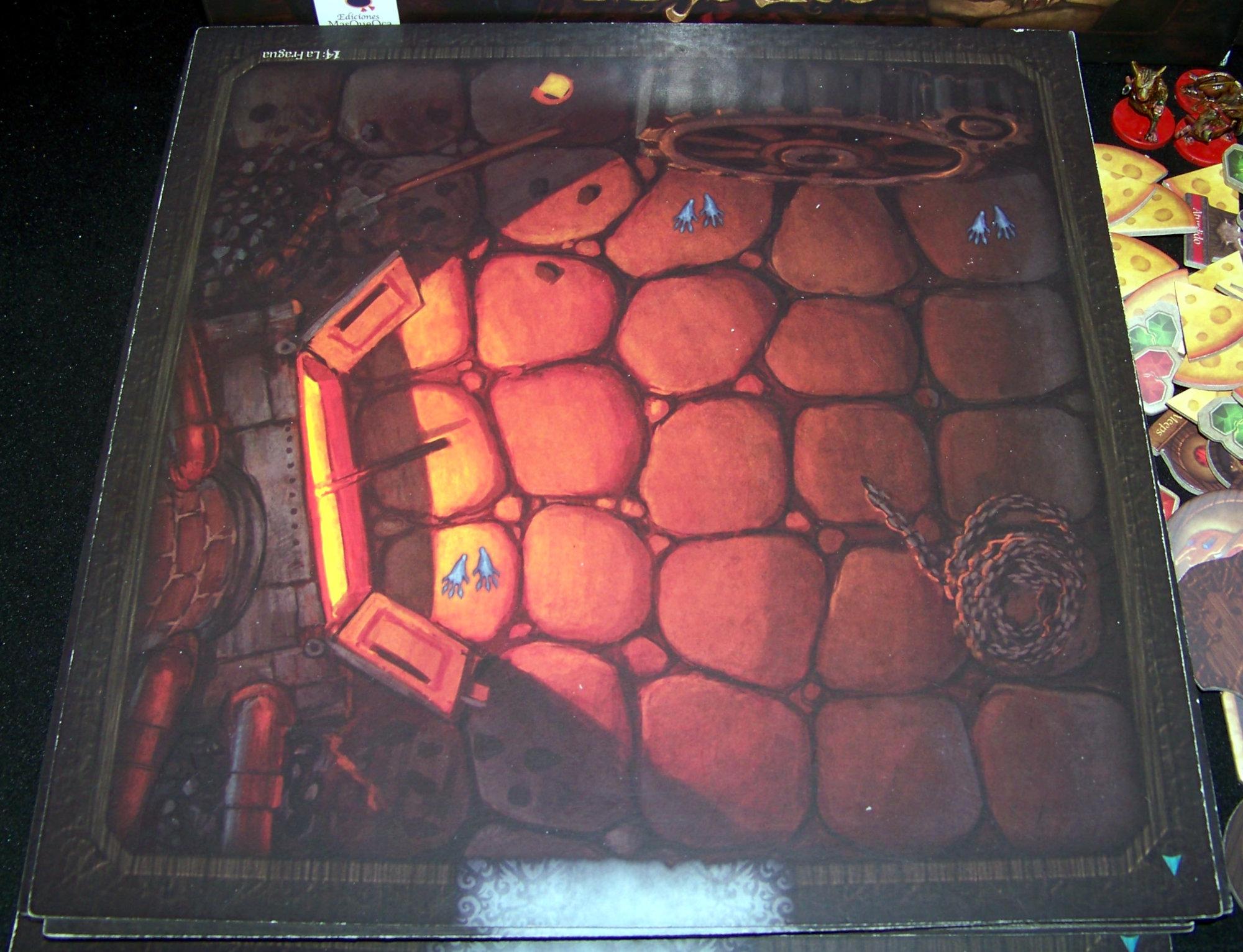 Juego de mesa De Ratones y Magia - detalle de loseta