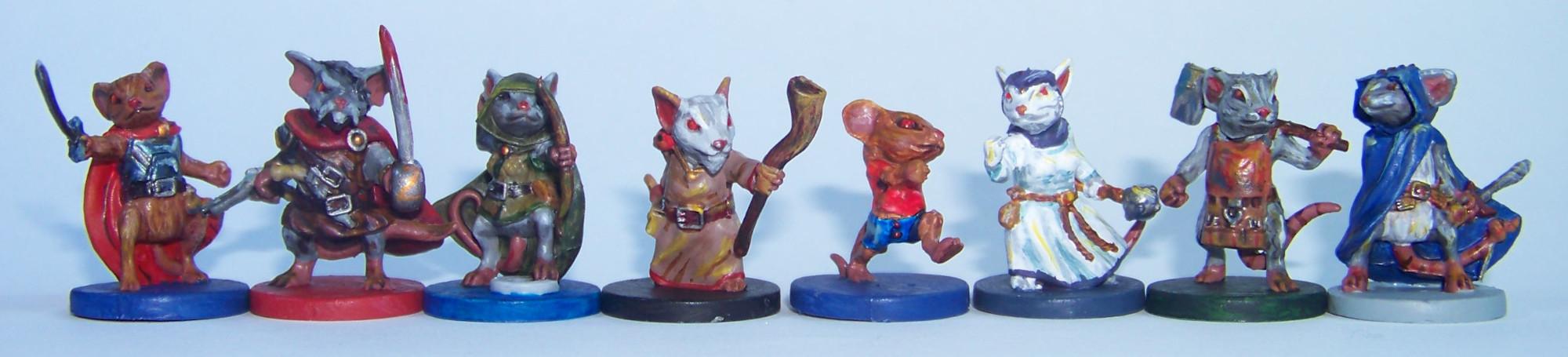 De ratones y Magia - miniaturas - ratones
