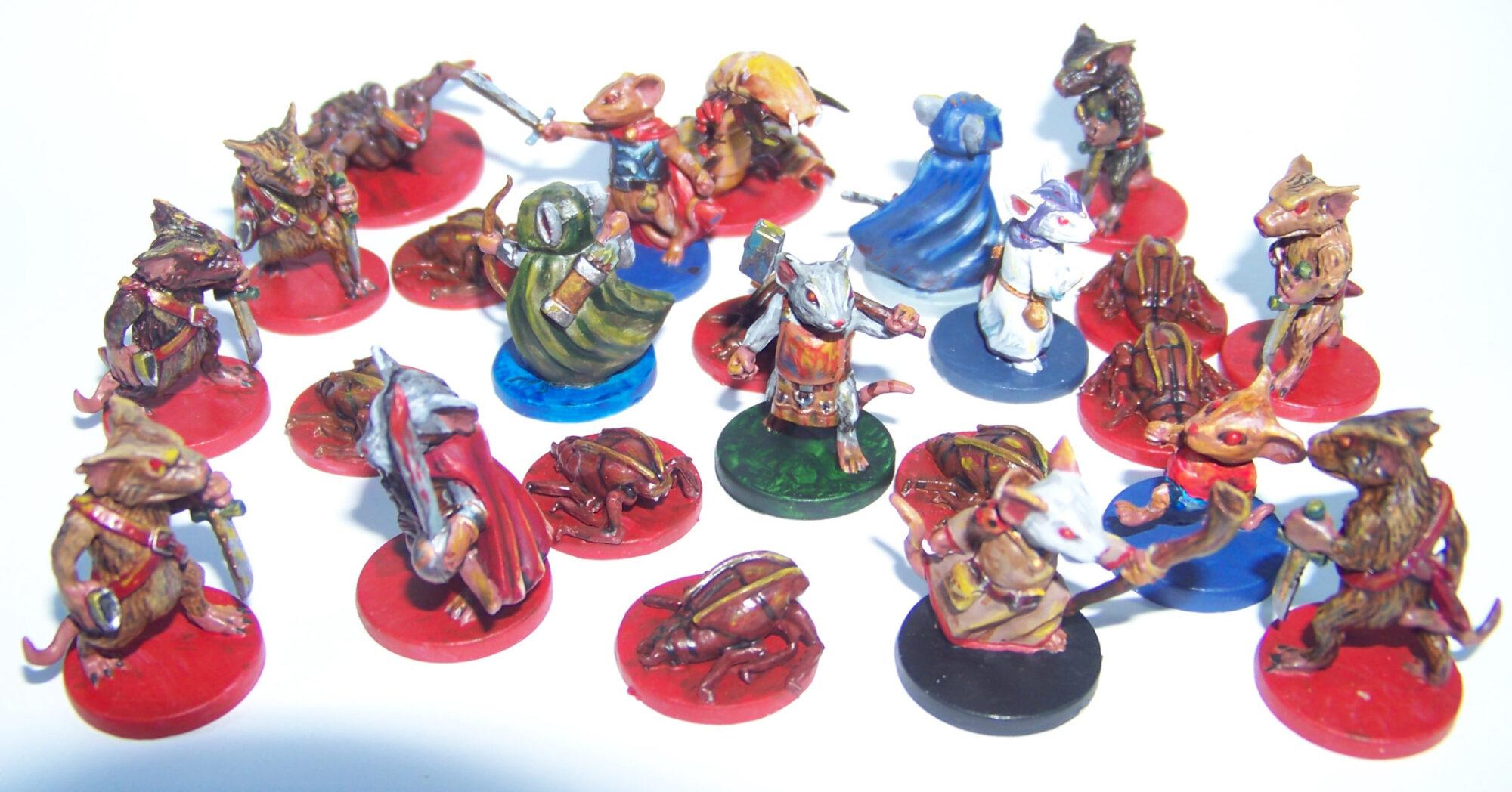 De ratones y Magia - miniaturas - ratones y enemigos