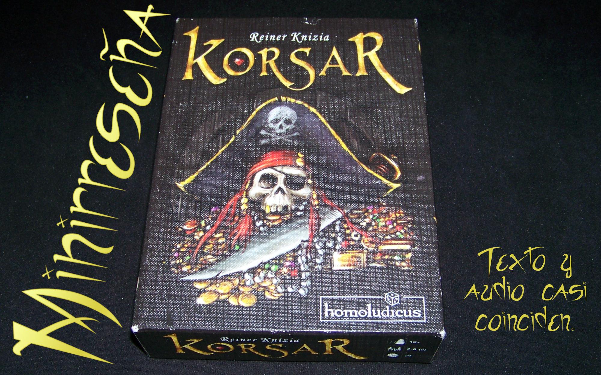 Juego de mesa Korsar - carátula