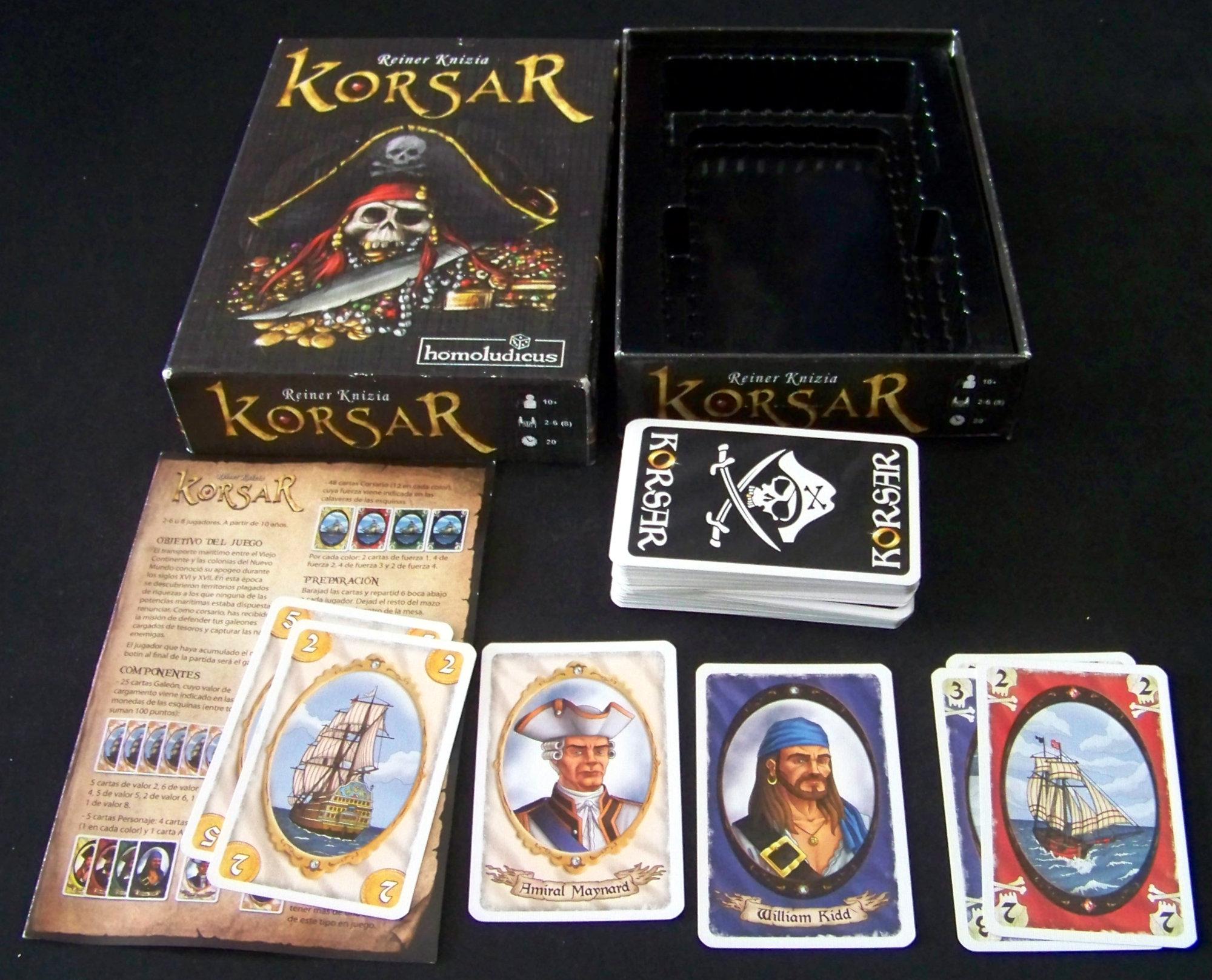 Juego de mesa Korsar - contenido