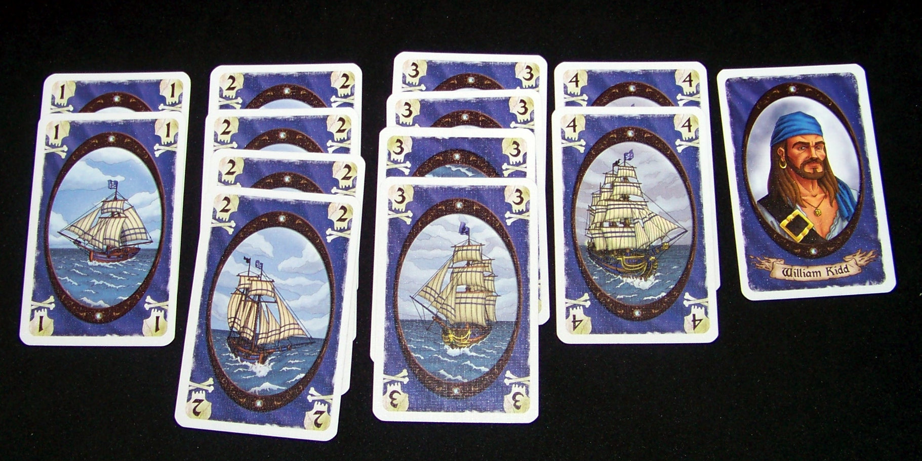 Juego de mesa Korsar - ejemplo azul