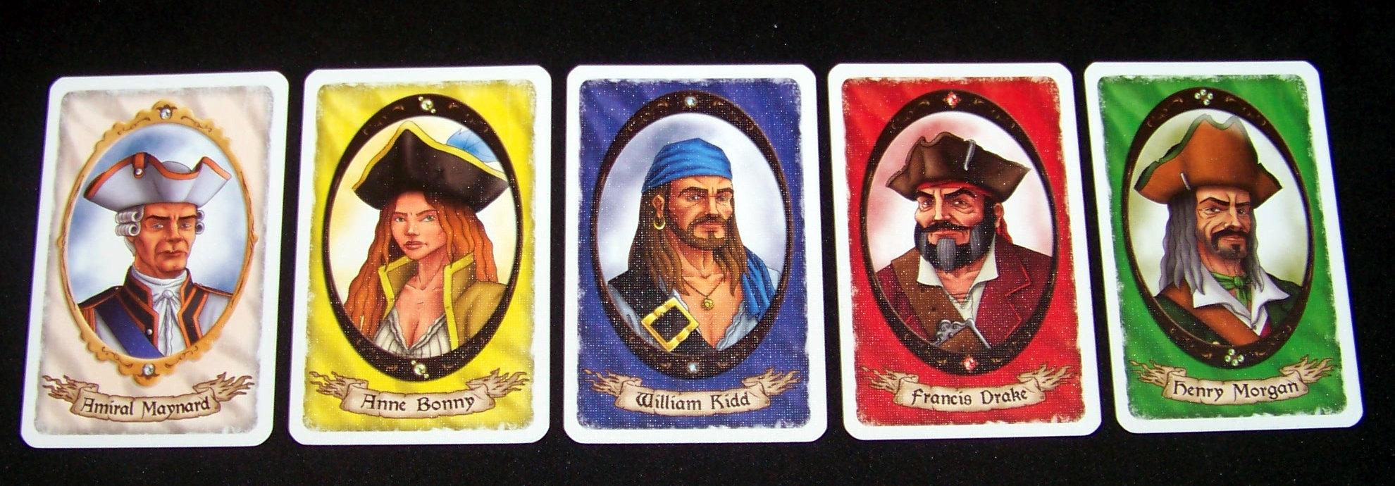 Juego de mesa Korsar - paratas y almirante