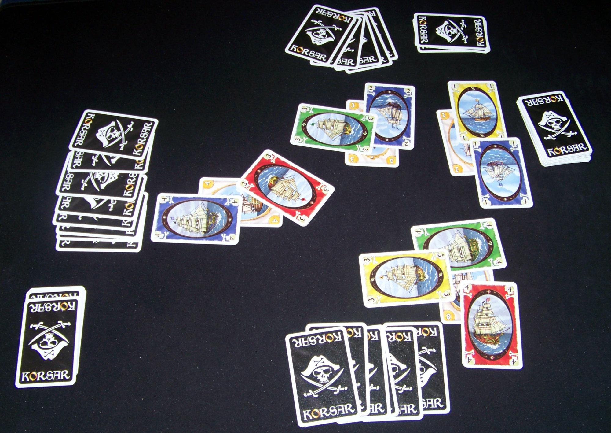 Juego de mesa Korsar - ejemplo de partida.
