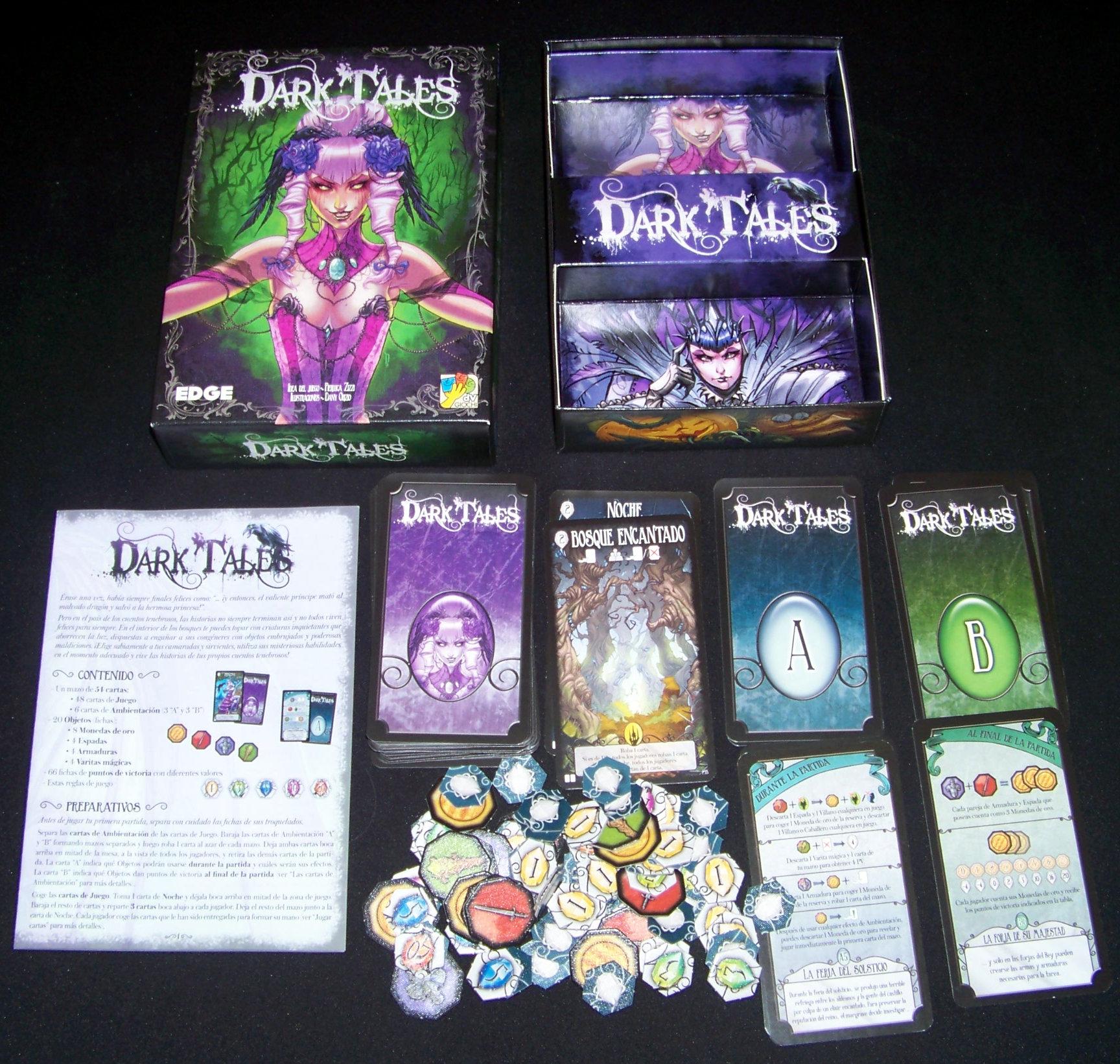 Juego de mesa Dark Tales - Contenido