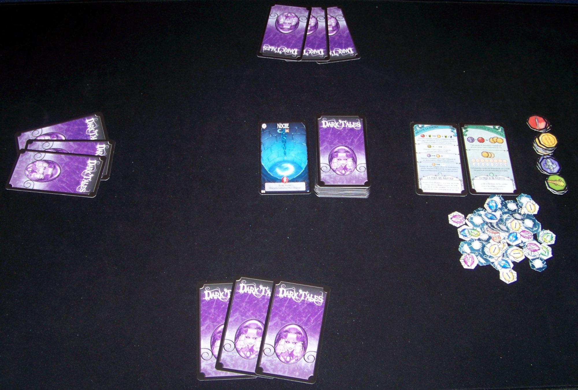 Juego de mesa Dark Tales -despliegue
