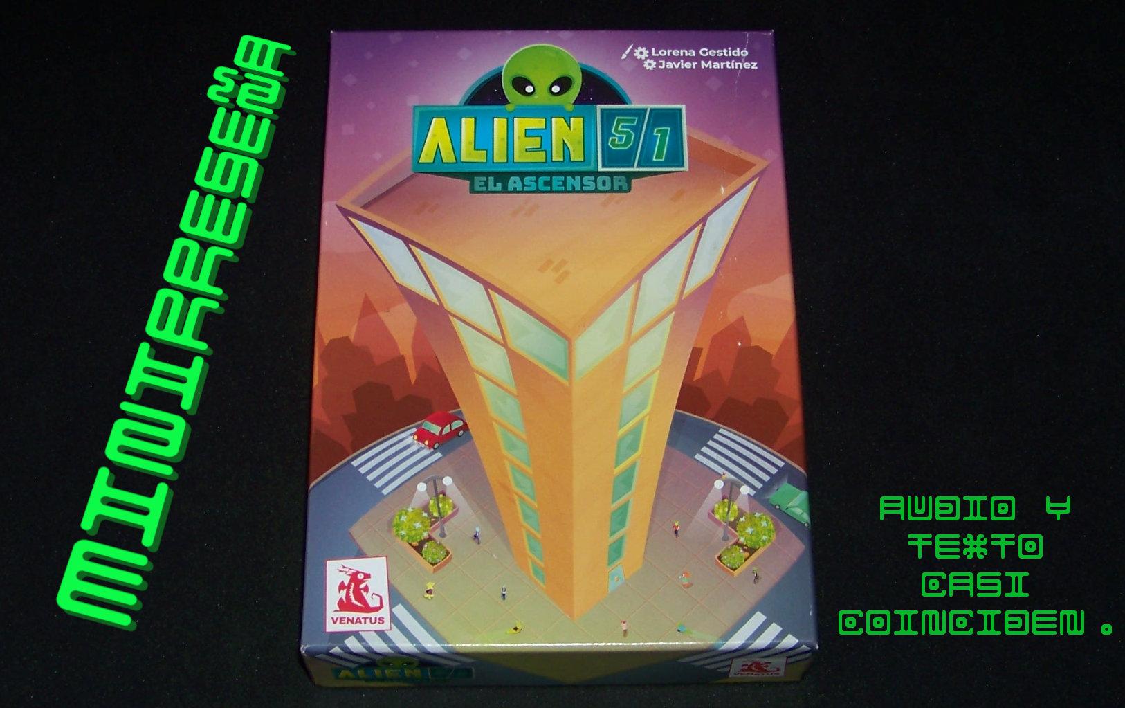 Juego de mesa Alien 51 - carátula