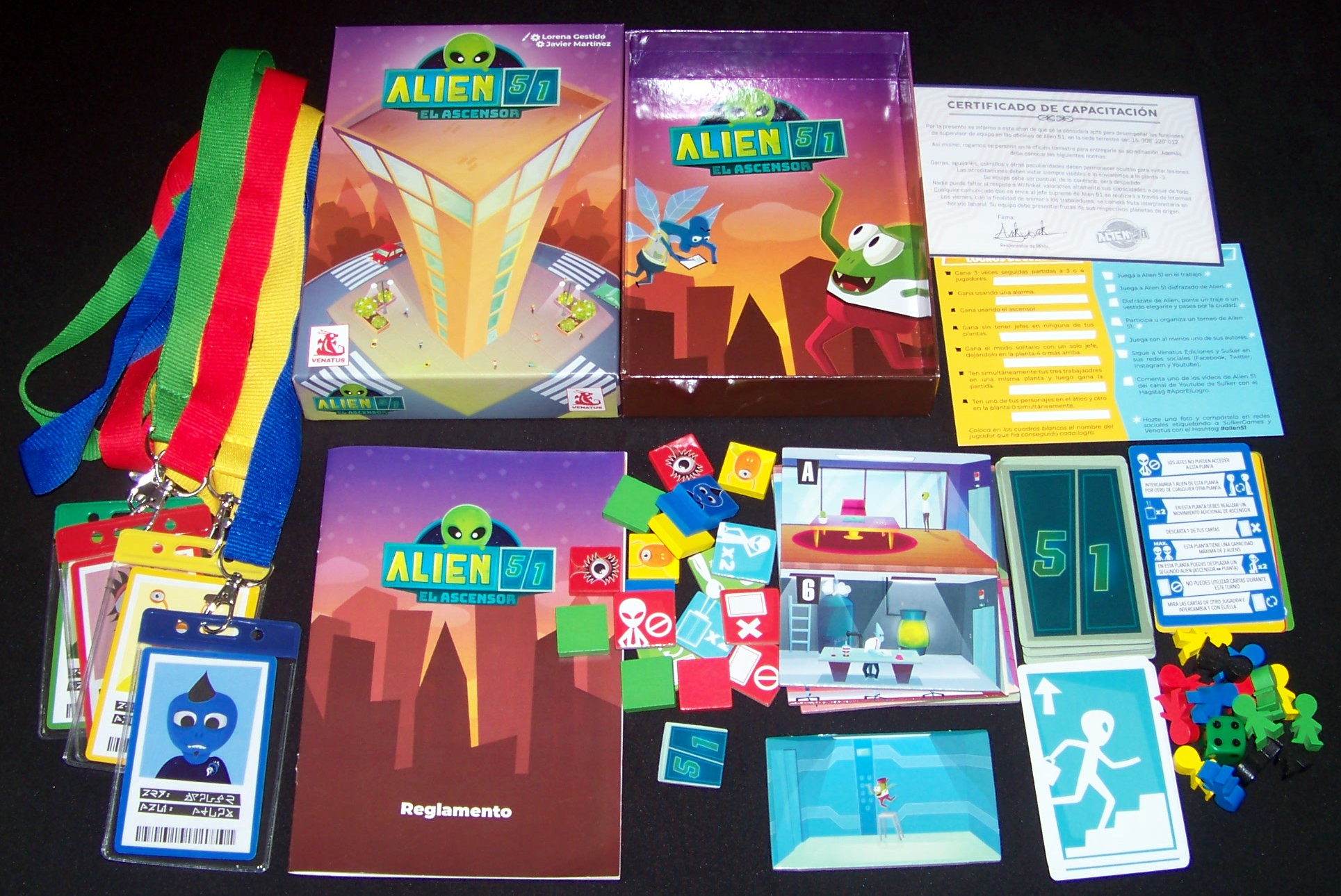 Juego de mesa Alien 51 - contenido