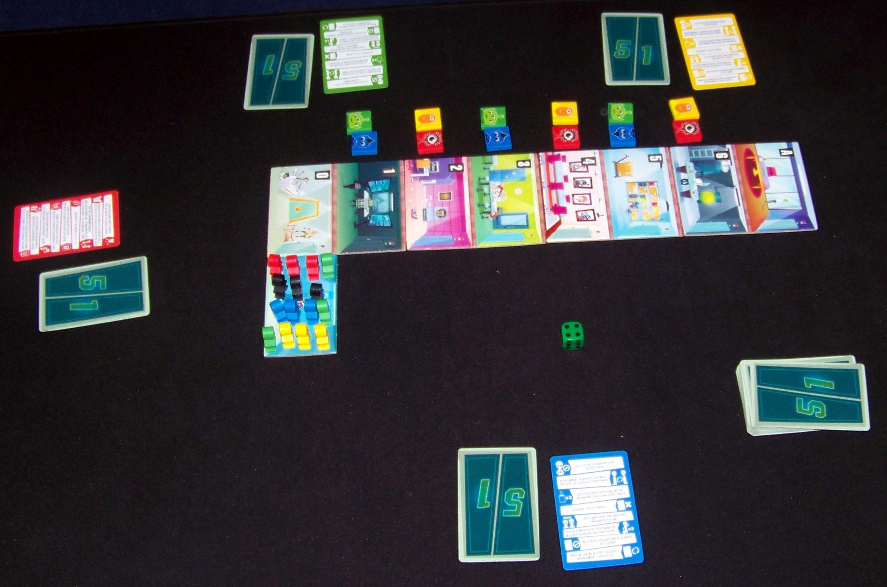 Juego de mesa Alien 51 - despliegue