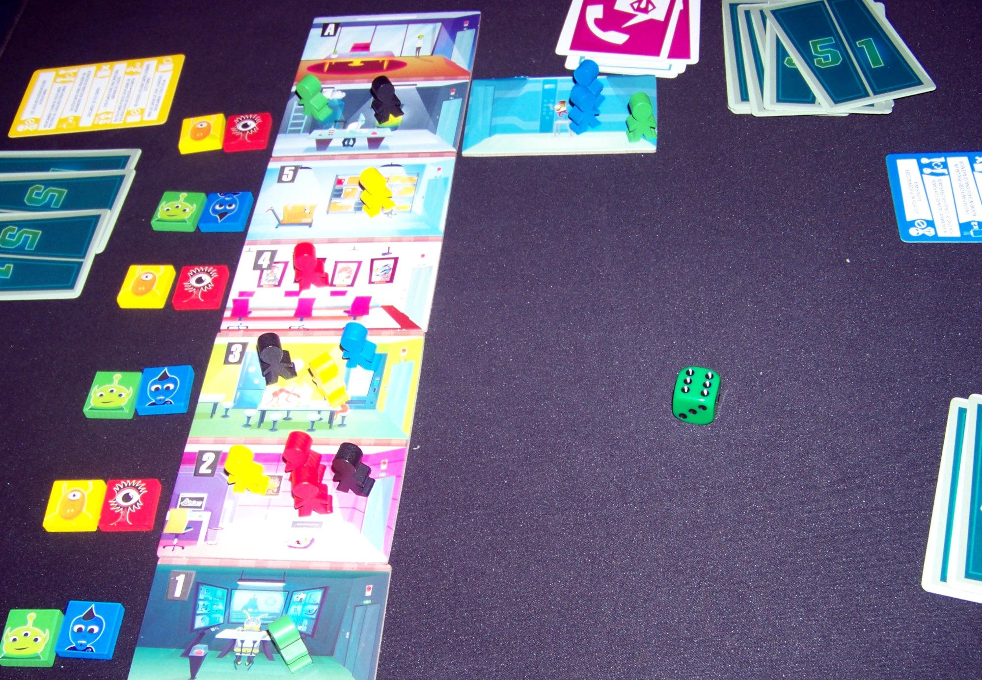 Juego de mesa Alien 51 - ejemplo