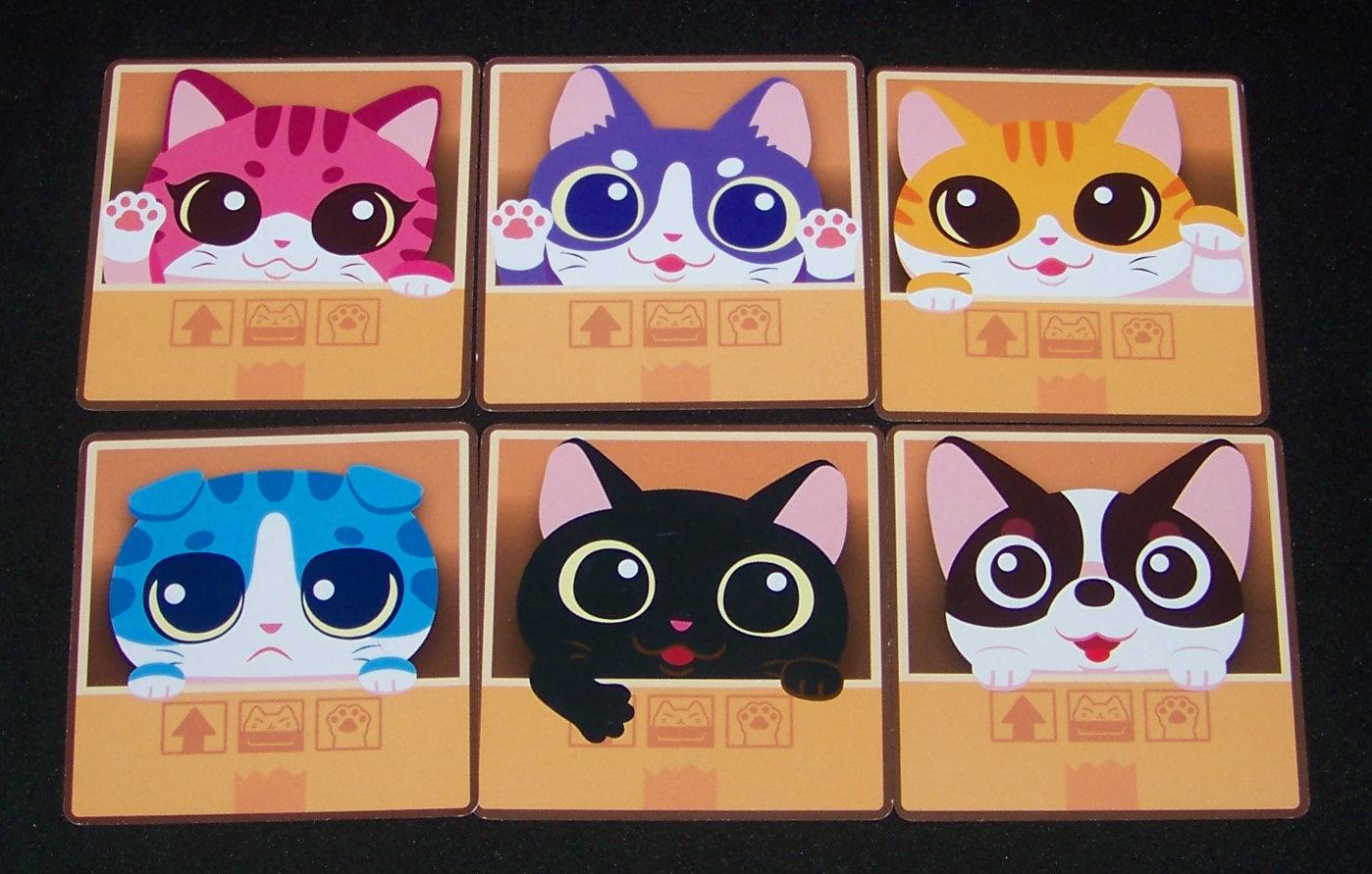 Juego de mesa Cat Box - roles.