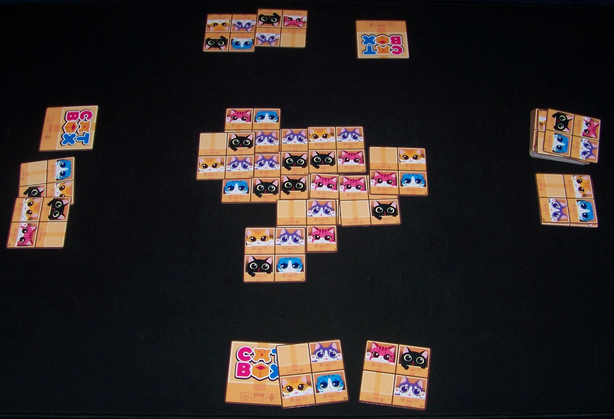 Juego de mesa Cat Box - ejemplo de partida.